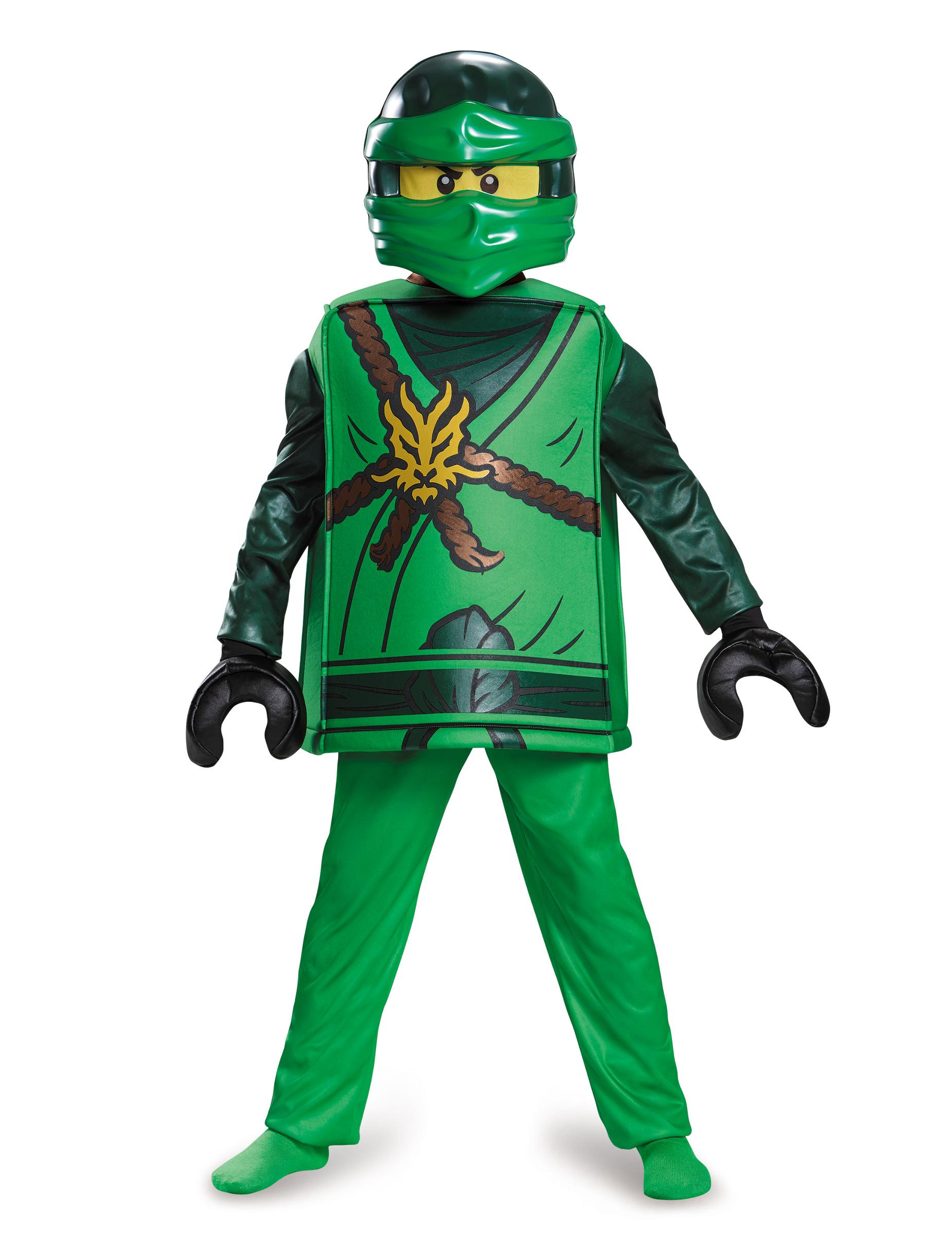 Lego Lloyd Ninjago Kinderkostum Ninja Grun Schwarz Gunstige