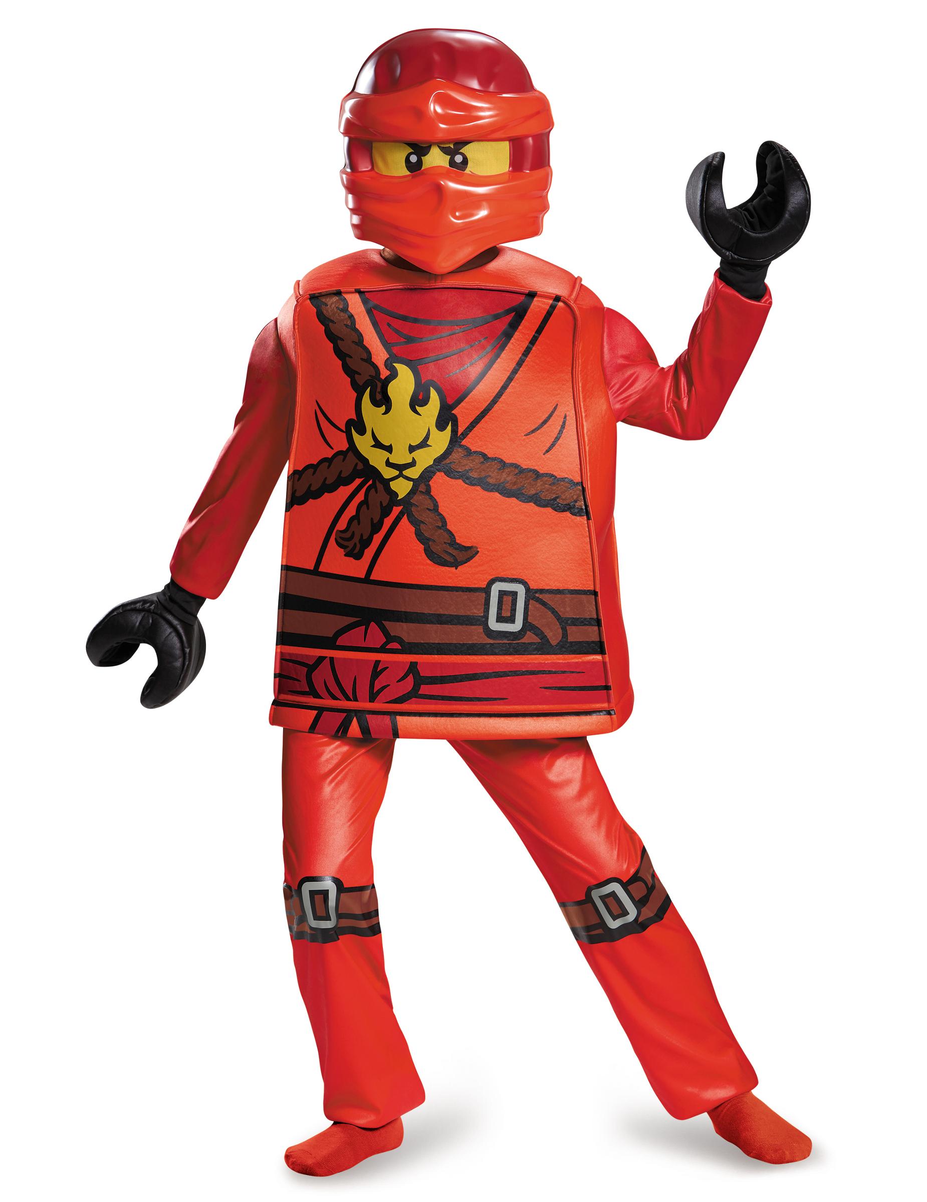 Lego Kai Ninjago Kinderkostum Ninja Rot Gunstige Faschings