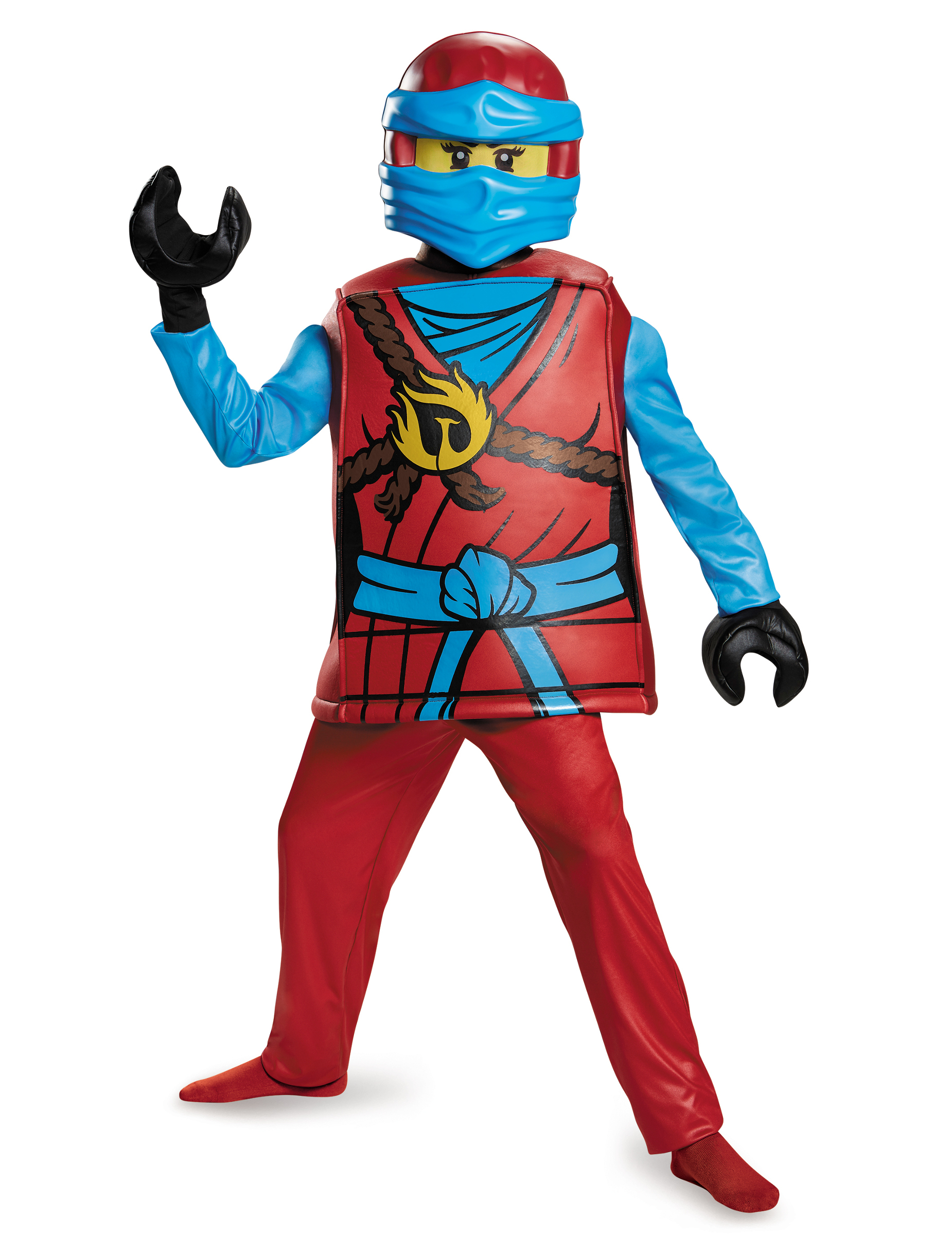 Lego Nya Ninjago Kinderkostum Ninja Rot Gelb Blau Gunstige