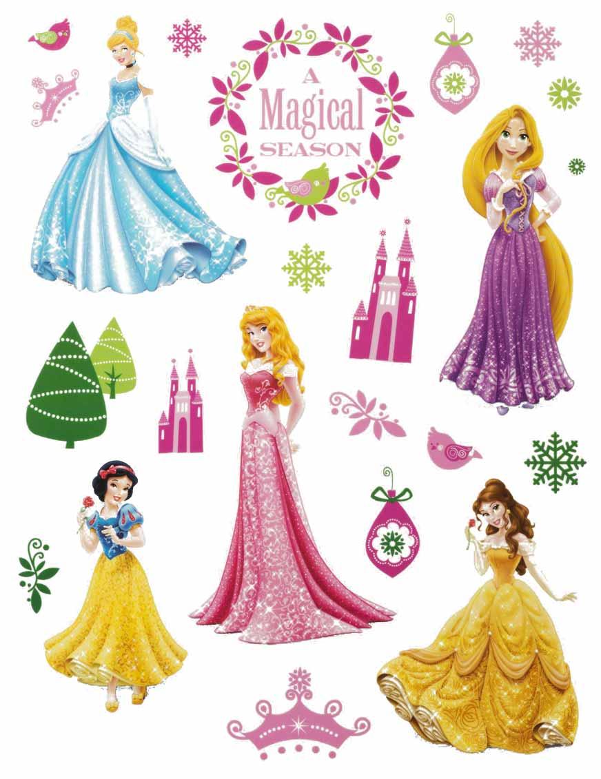 Disney prinzessinnen fensterdeko 42x30cm g nstige faschings partydeko zubeh r bei karneval - Fensterdeko karneval ...