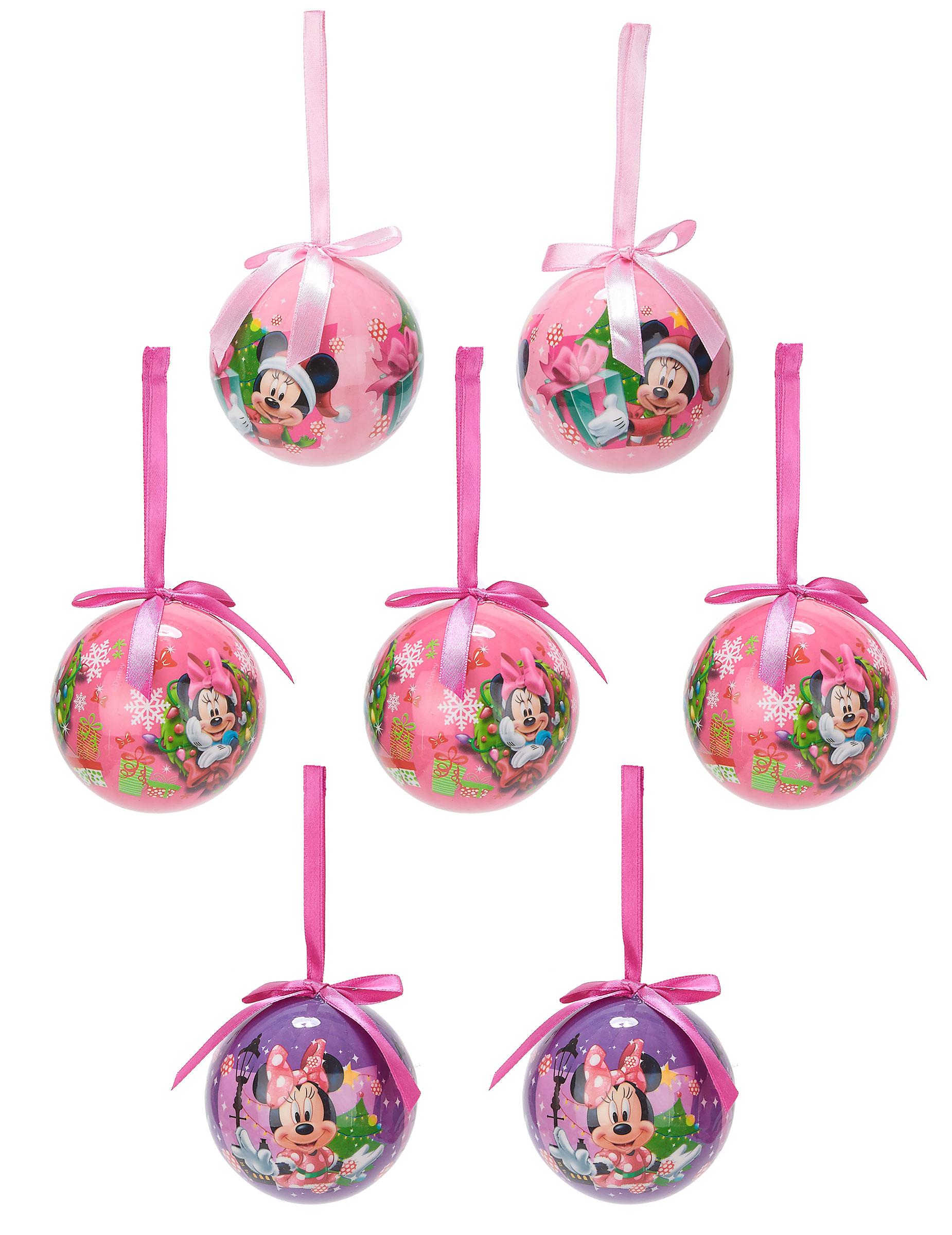 Christbaumkugeln Violett.Christbaumkugeln Weihnachten Lizenzartikel Minnie Mouse 7