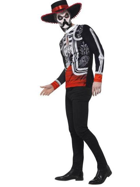 skelett herren kost m tag der toten schwarz bunt g nstige faschings kost me bei karneval megastore. Black Bedroom Furniture Sets. Home Design Ideas