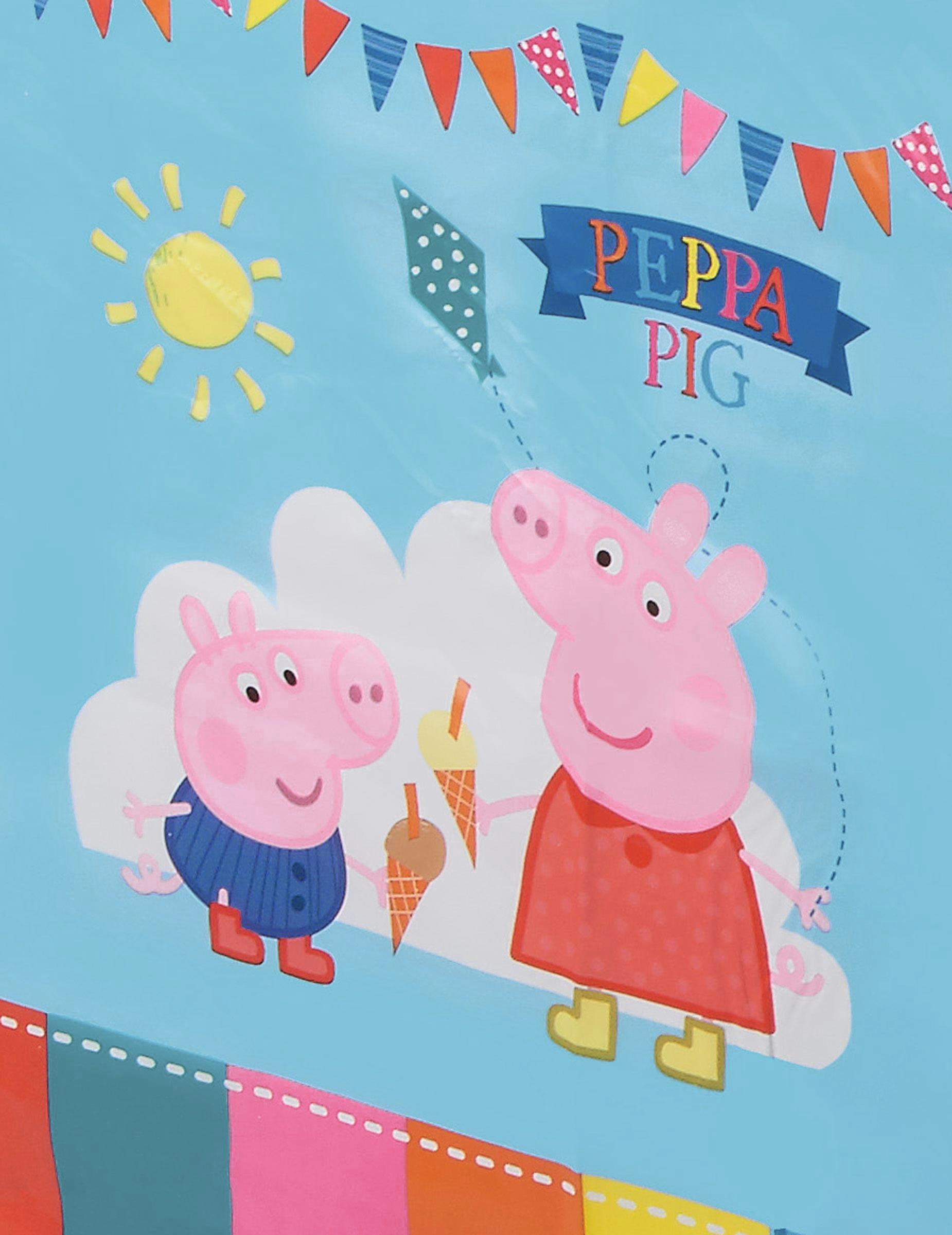 Peppa Pig Wutz Kunststoff Tischdecke 120x180cm Tablecover Geburtstag Party