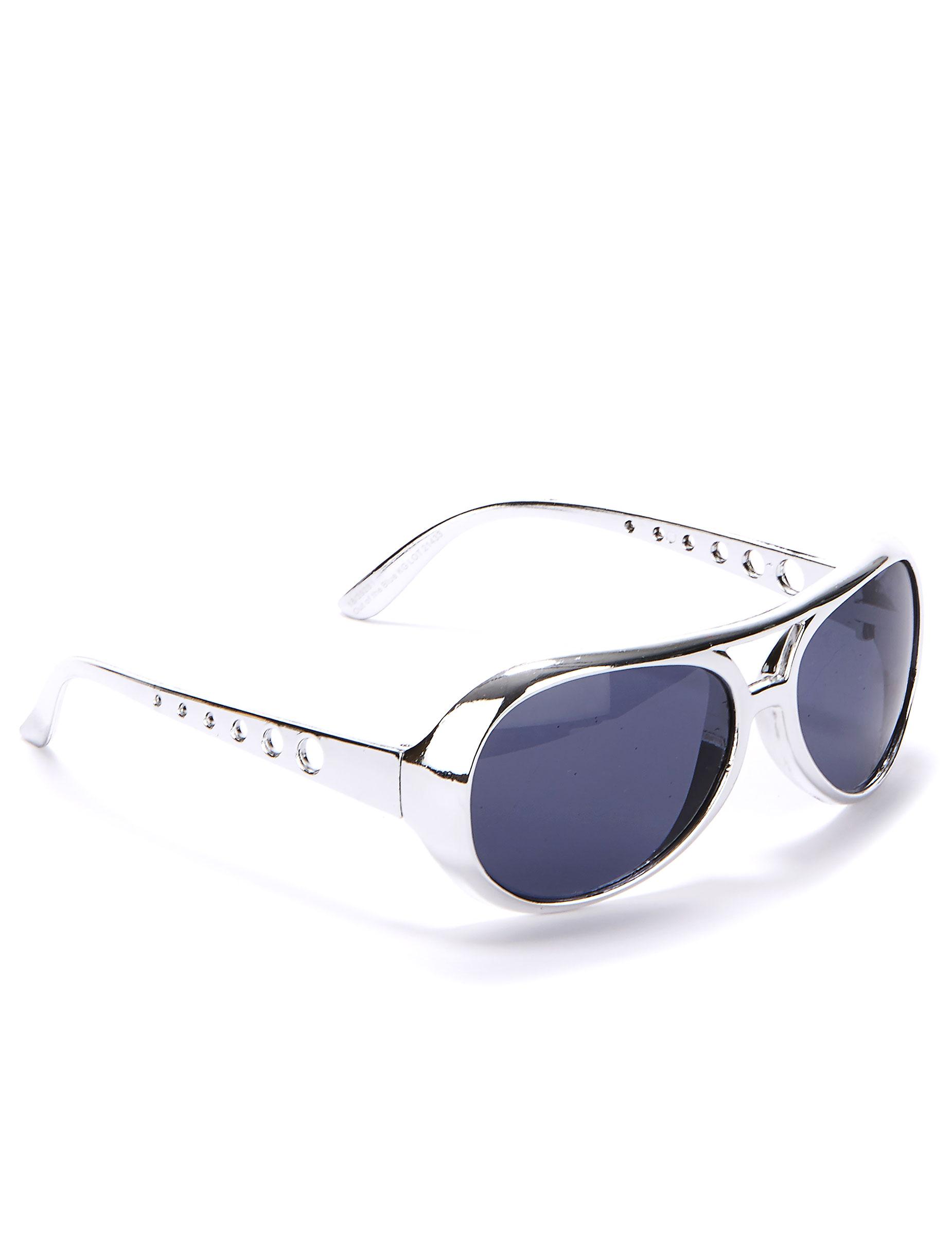 50er jahre brille im biker look silber schwarz g nstige faschings accessoires zubeh r bei. Black Bedroom Furniture Sets. Home Design Ideas