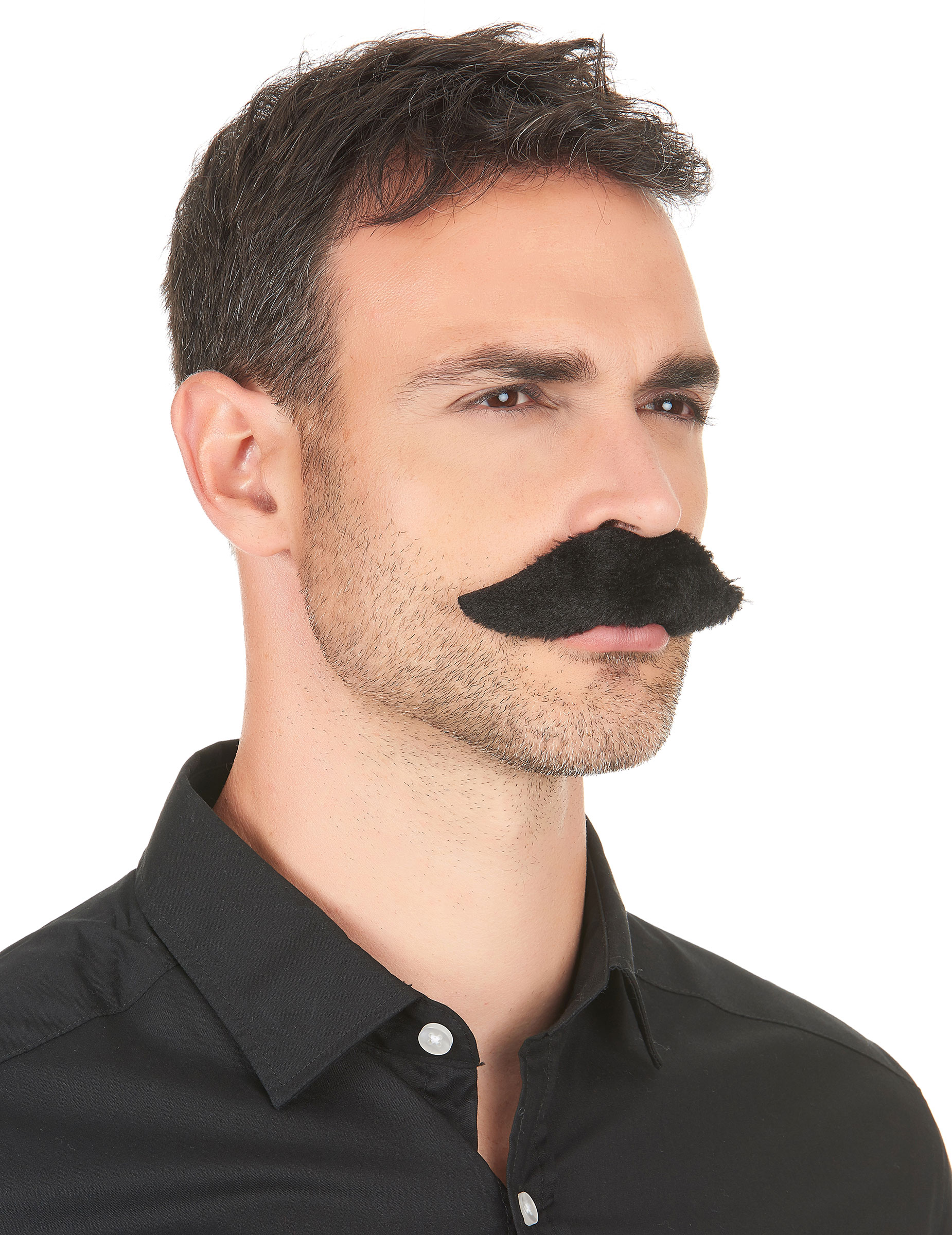 Schnauzer Kostüm-Schnurbart schwarz , günstige Faschings