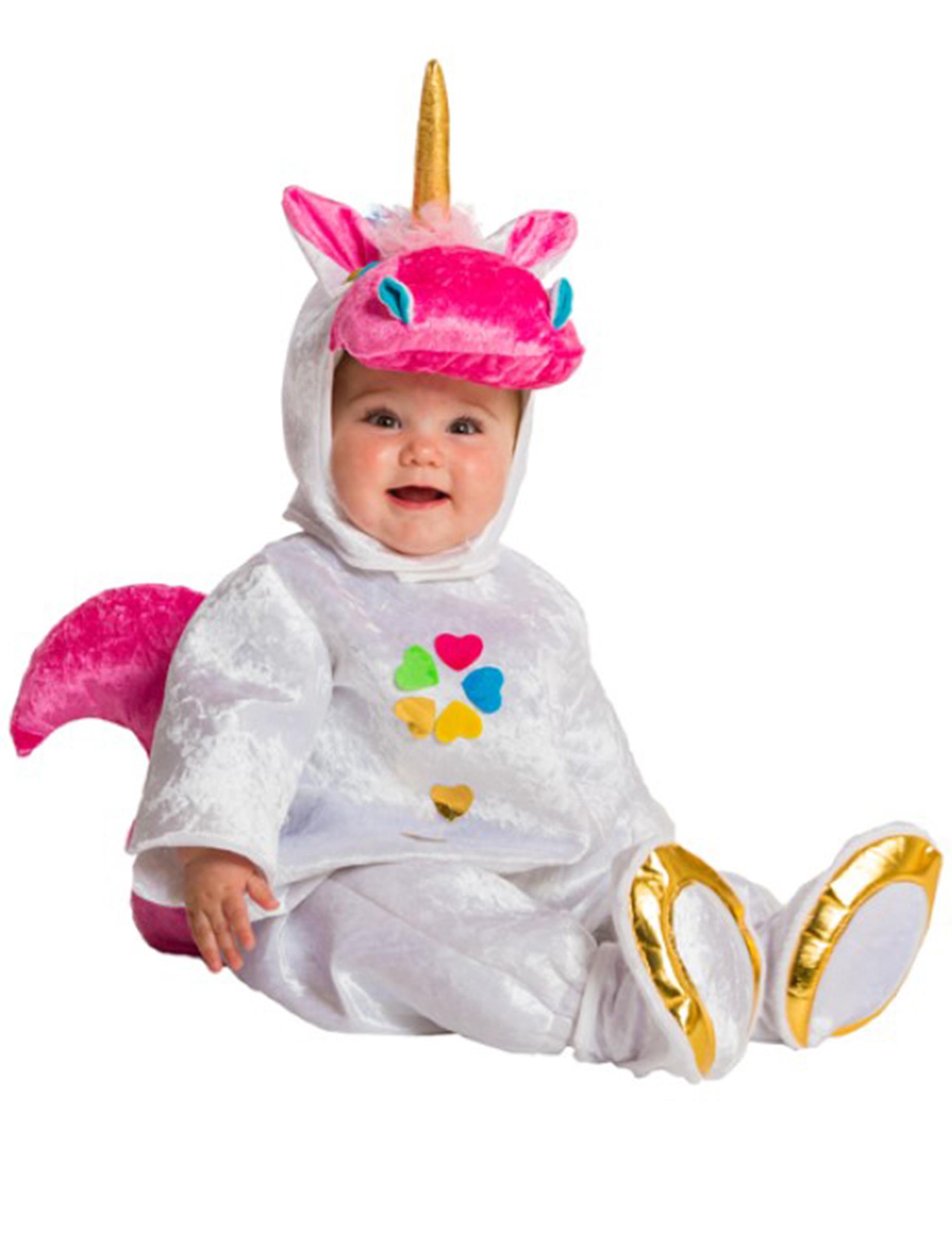 niedliches einhorn kostum fur babys bunt