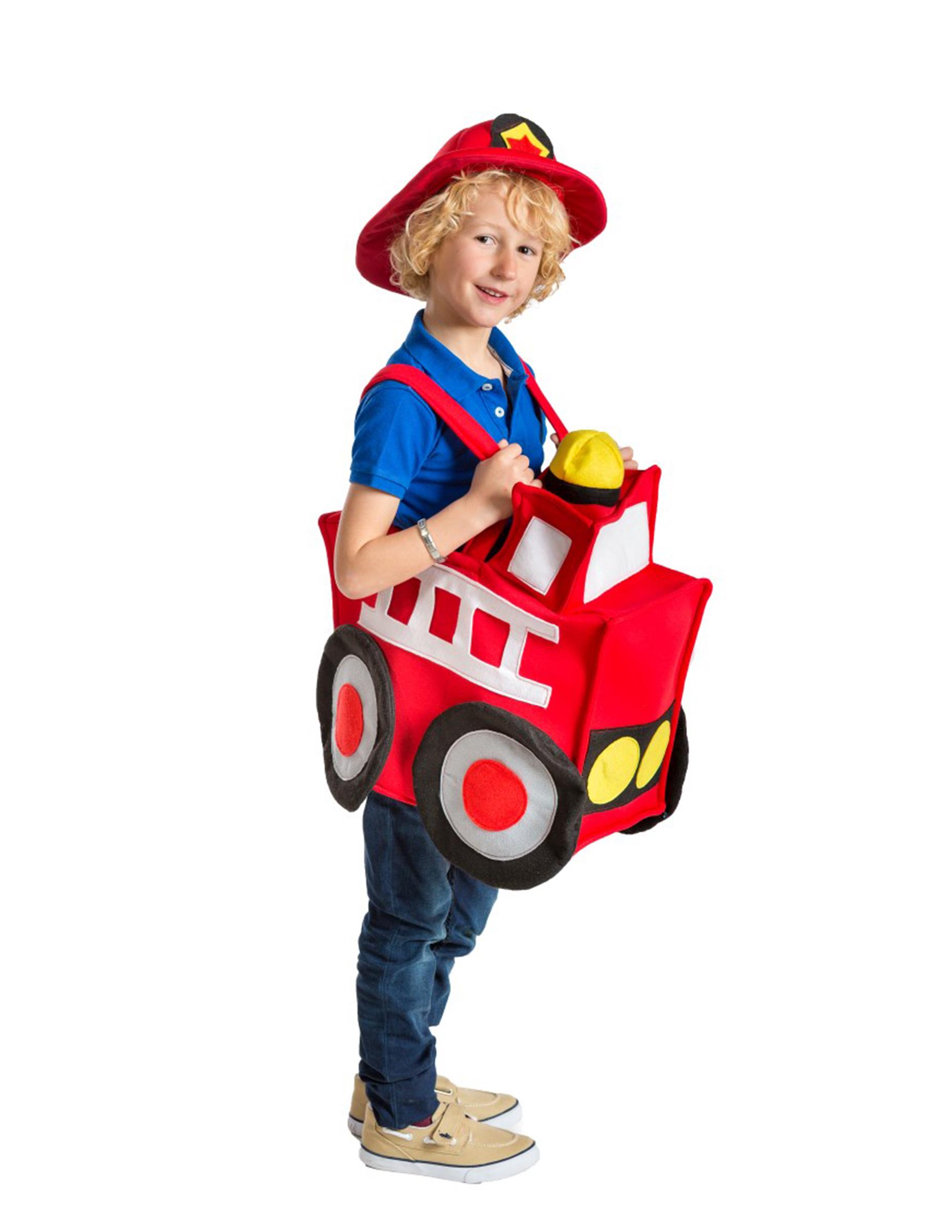 Feuerwehr Auto Kostüm für Kinder bunt , günstige Faschings Kostüme ...