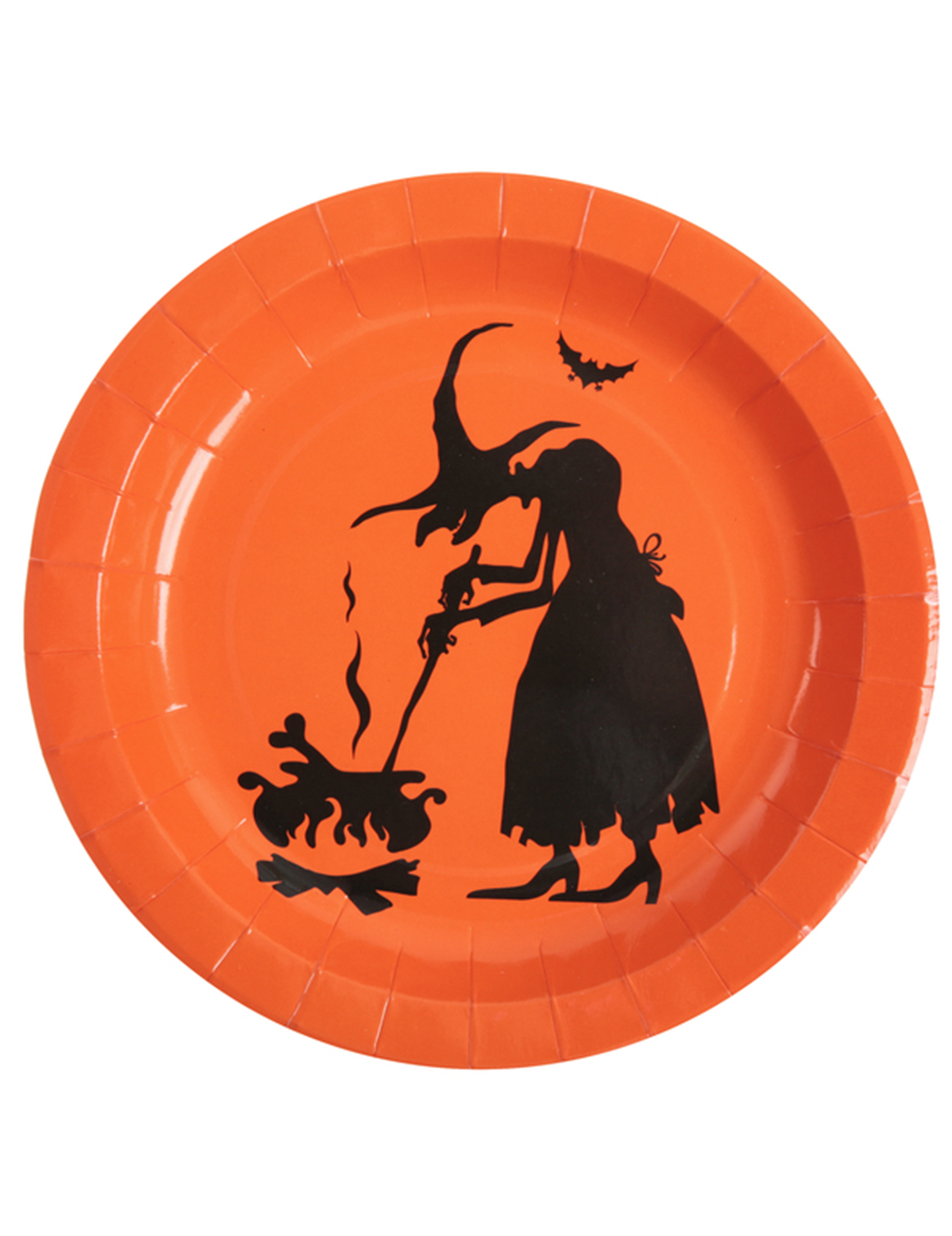 halloween pappteller hexen teller 10 st ck orange schwarz 22cm g nstige faschings partydeko. Black Bedroom Furniture Sets. Home Design Ideas