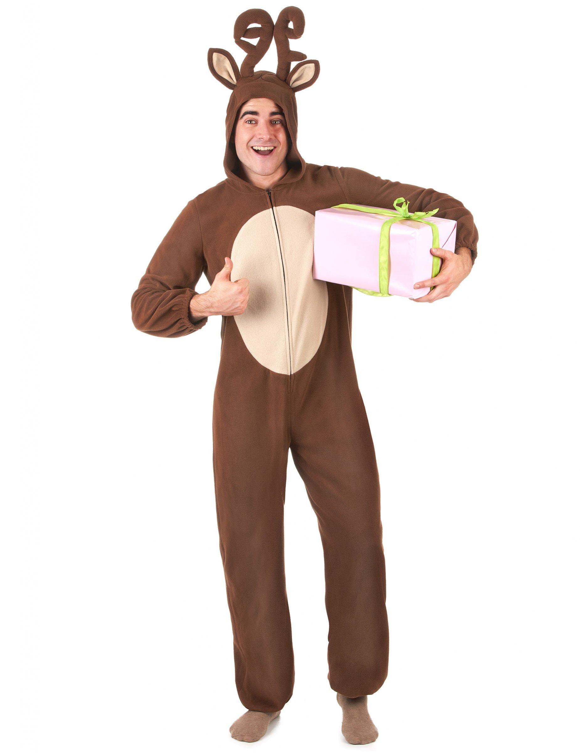 Jumpsuit Weihnachten.Rentier Kostum Jumpsuit Weihnachten Braun Beige