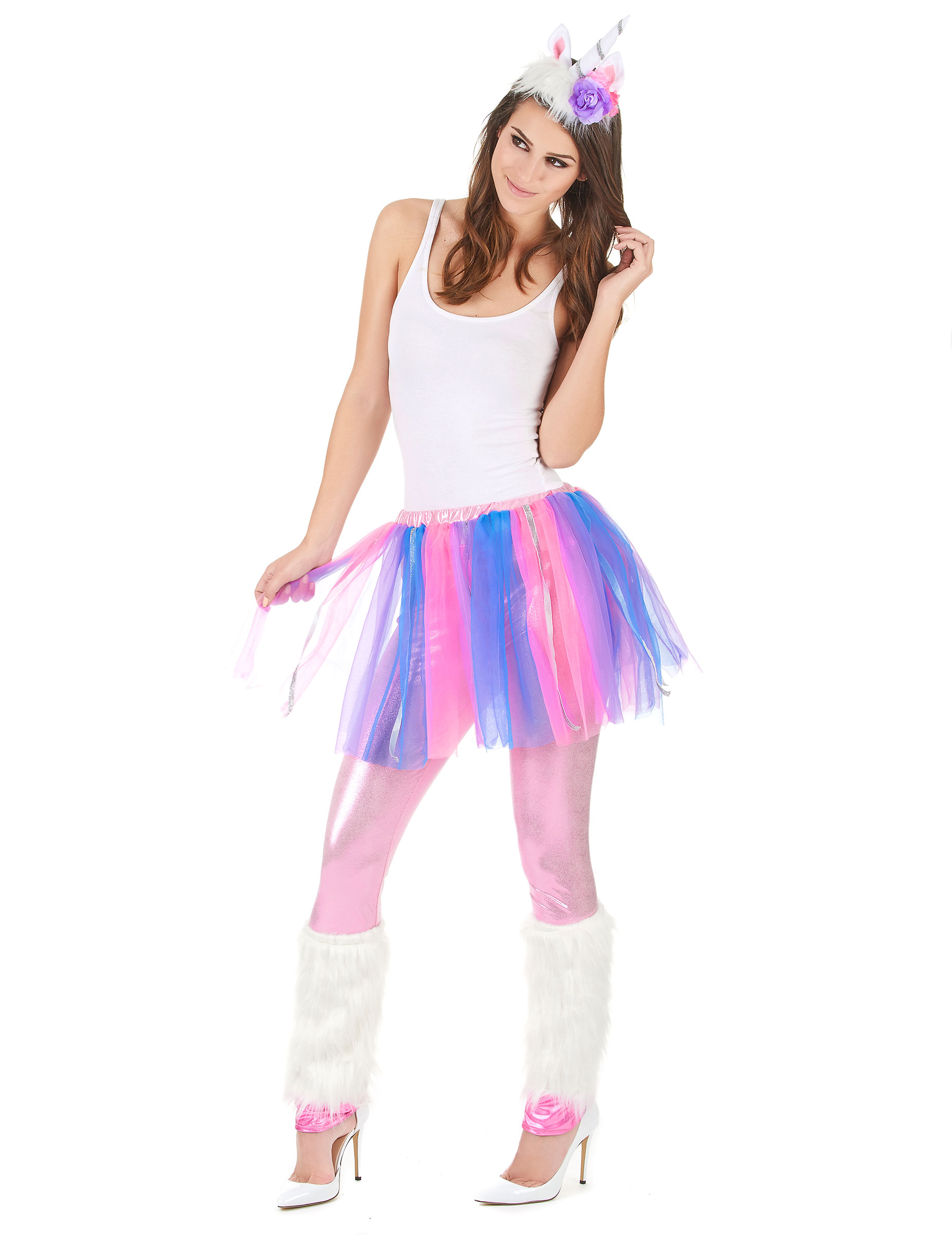 Su00fcsses Einhorn Damenkostu00fcm Fantasy Weiss-lila-pink  Gu00fcnstige Faschings Kostu00fcme Bei Karneval ...