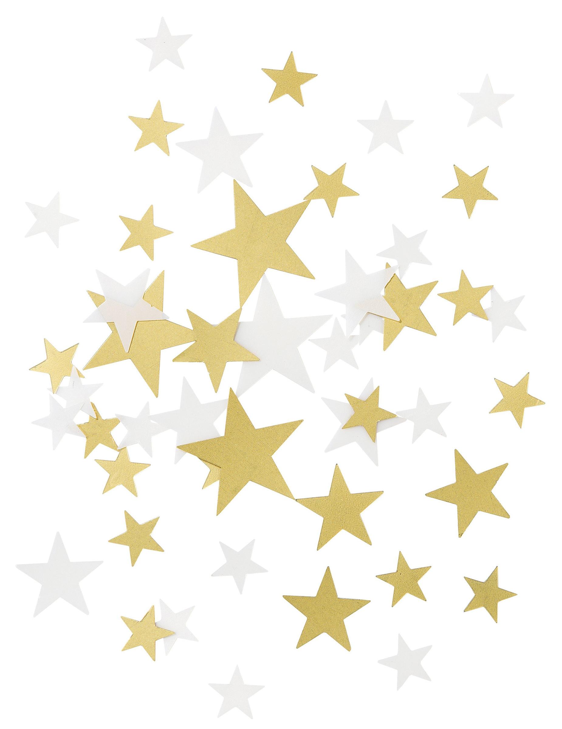 Tischdeko Sterne Konfetti Weiss Gold Gunstige Faschings Partydeko