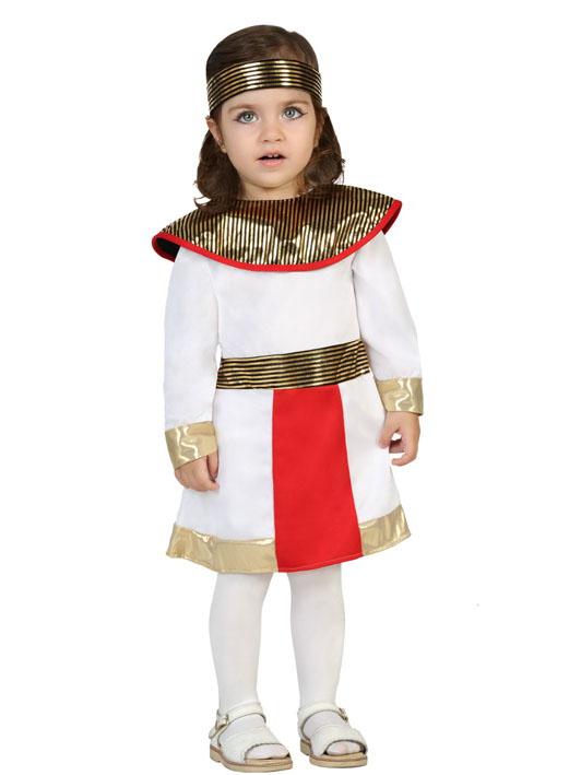 Agypterin Cleopatra Kostum Fur Kleinkinder Weiss Rot Gold Gunstige