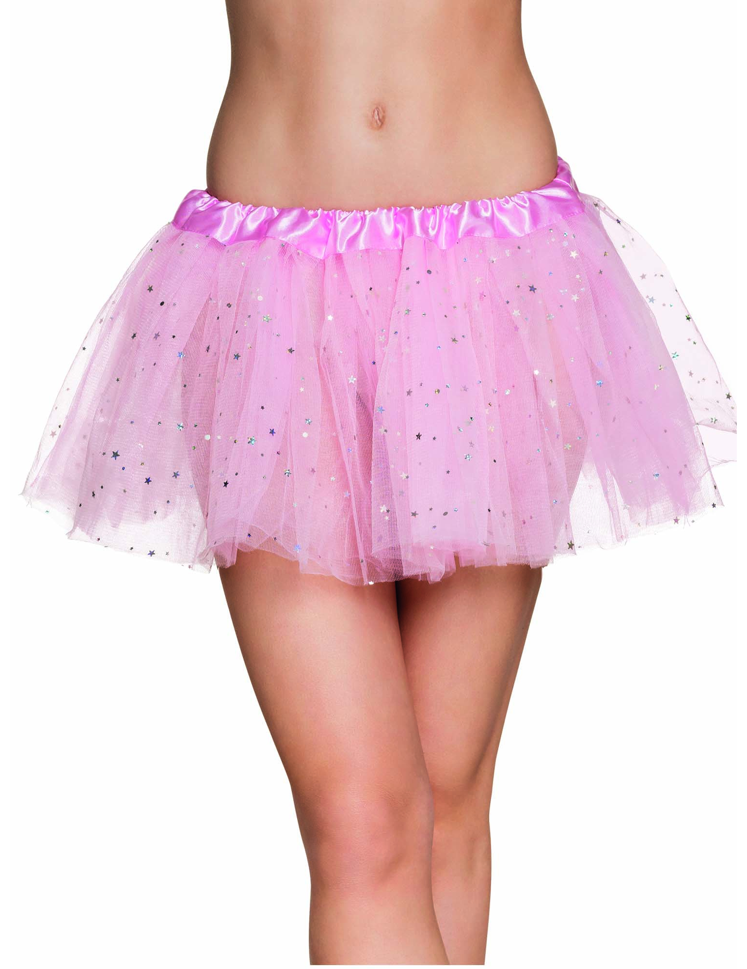 online retailer de486 564bd Süßer Tüllrock Fee Tutu mit Sternchen für Damen rosa-silber