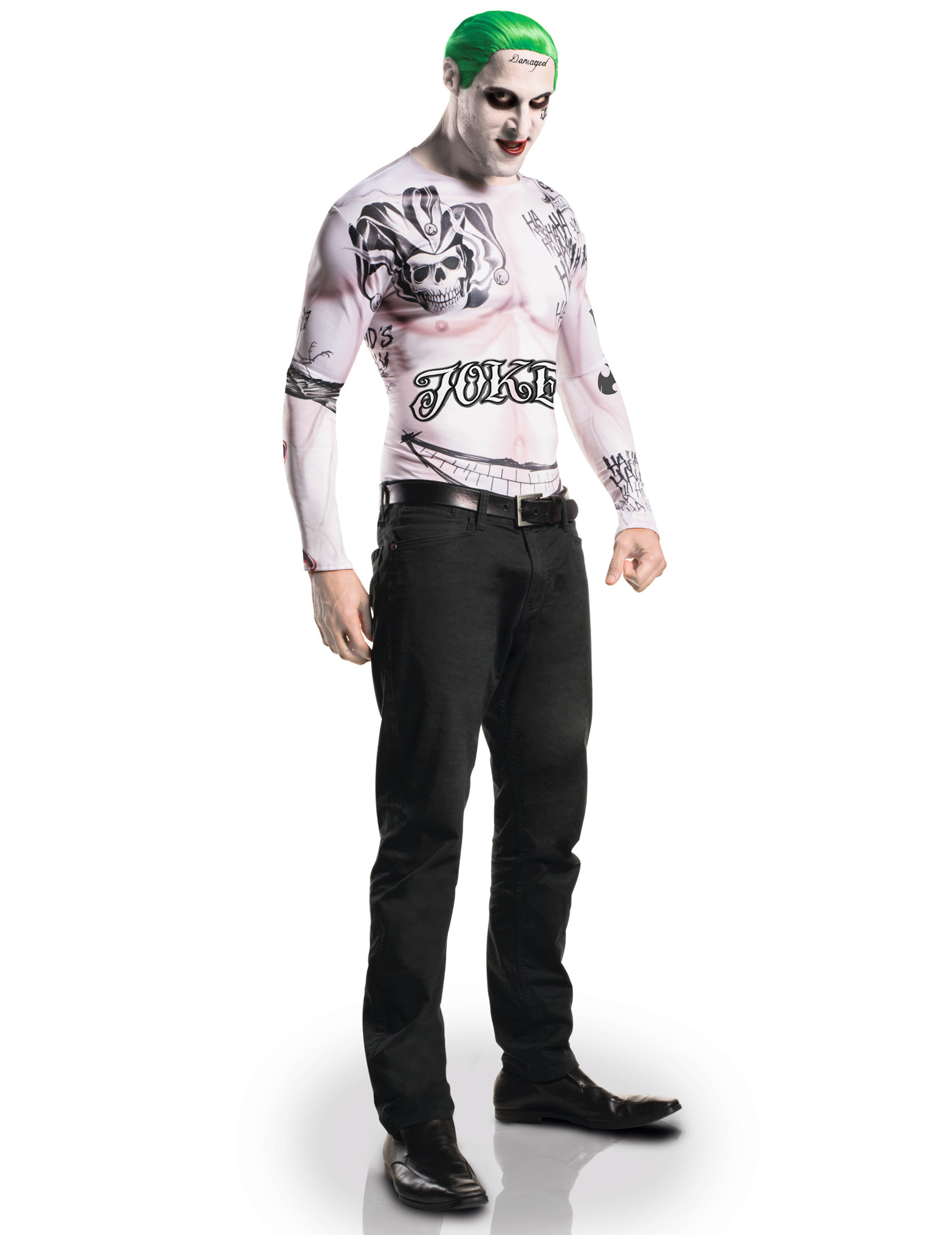 Joker Kostum Set Mit Schminke Suicide Squad 3 Teilig Bunt Gunstige