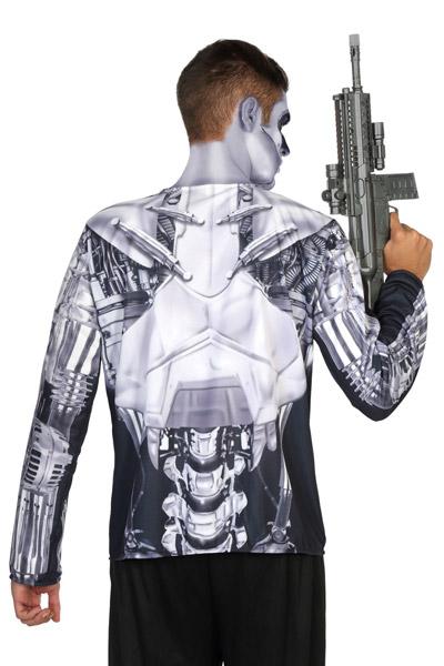 roboter kost m shirt android grau weiss g nstige faschings kost me bei karneval megastore. Black Bedroom Furniture Sets. Home Design Ideas