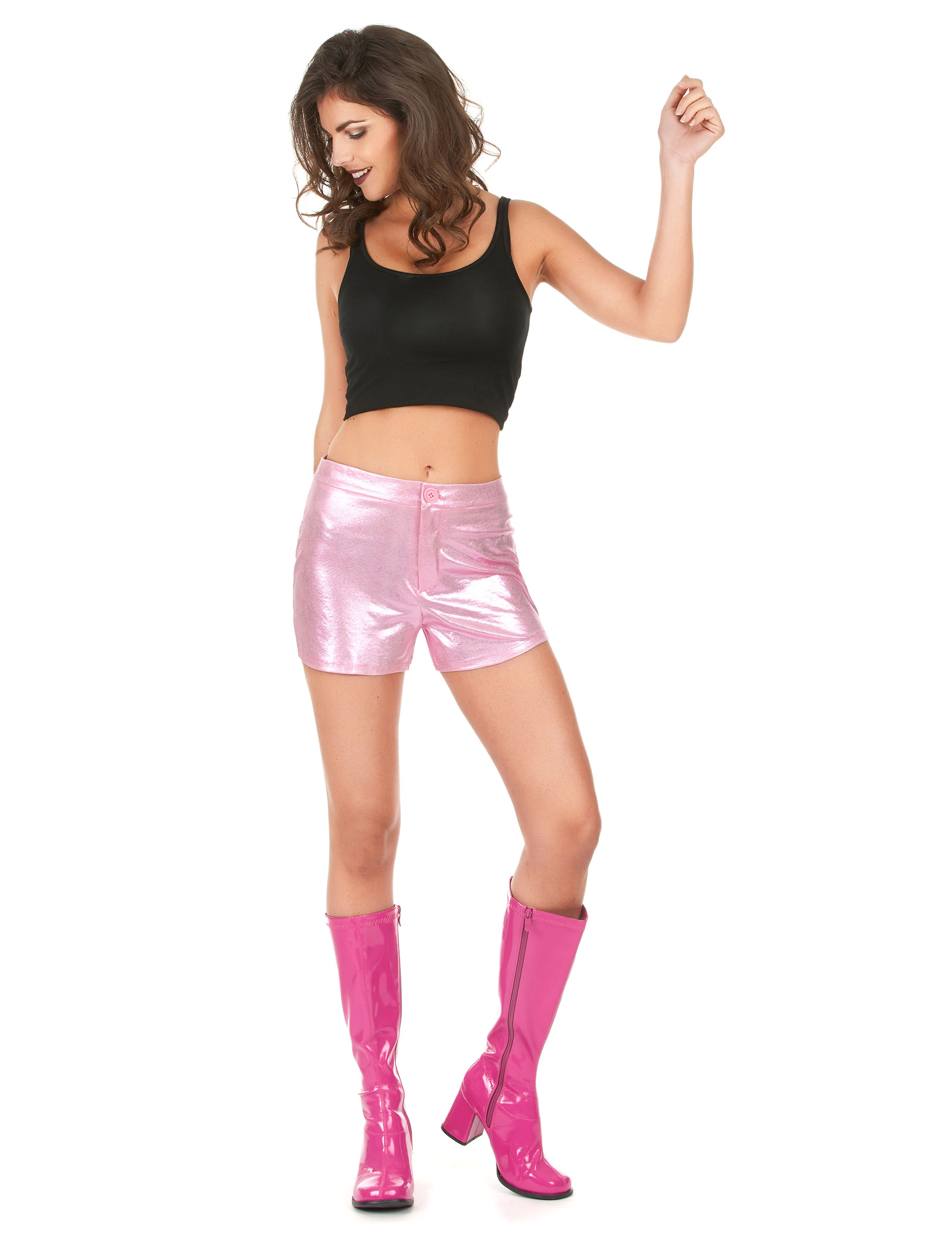 disco shorts kurze hose rosa g nstige faschings kost me bei karneval megastore. Black Bedroom Furniture Sets. Home Design Ideas