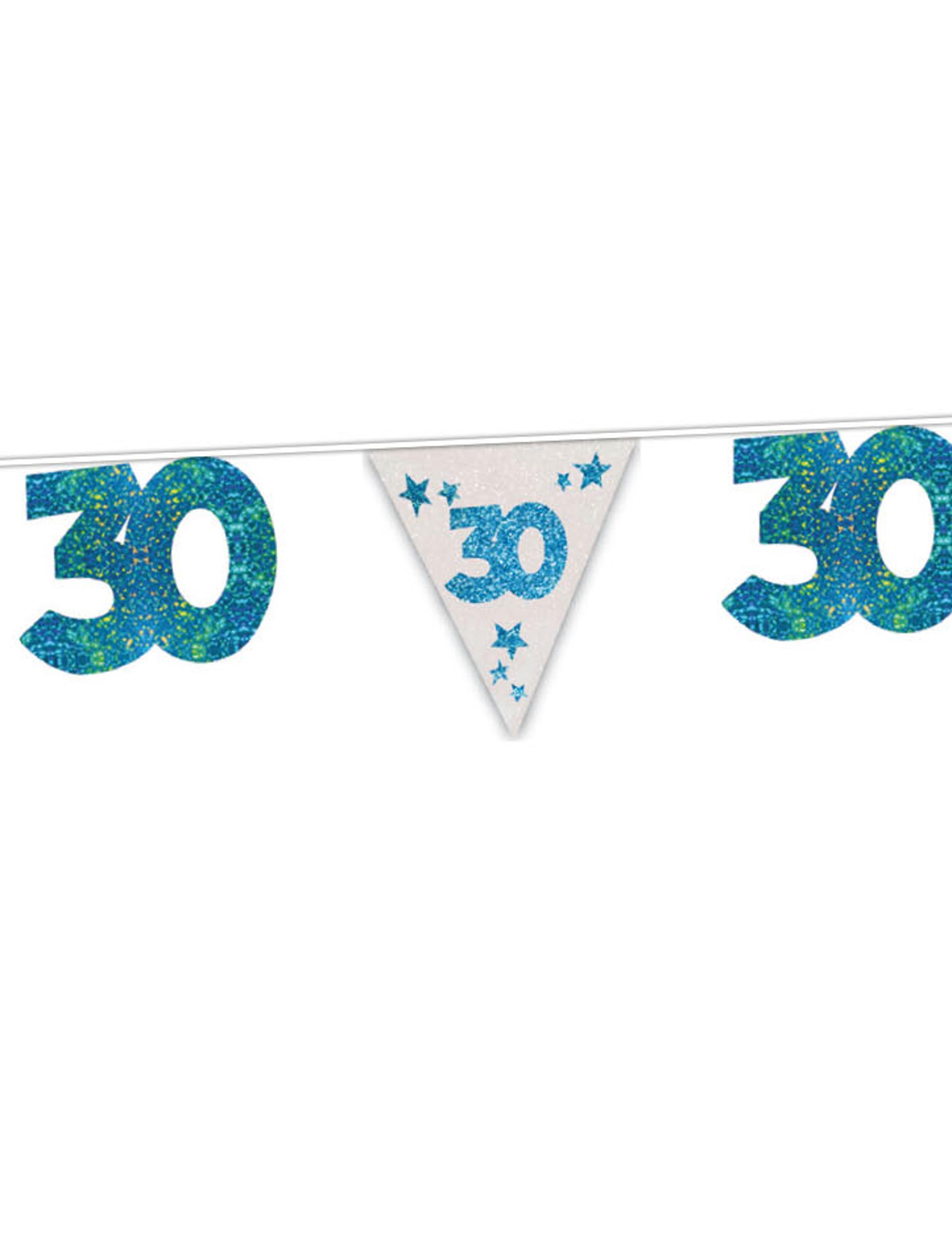 30 geburtstag girlande party deko blau 6m g nstige faschings partydeko zubeh r bei karneval. Black Bedroom Furniture Sets. Home Design Ideas