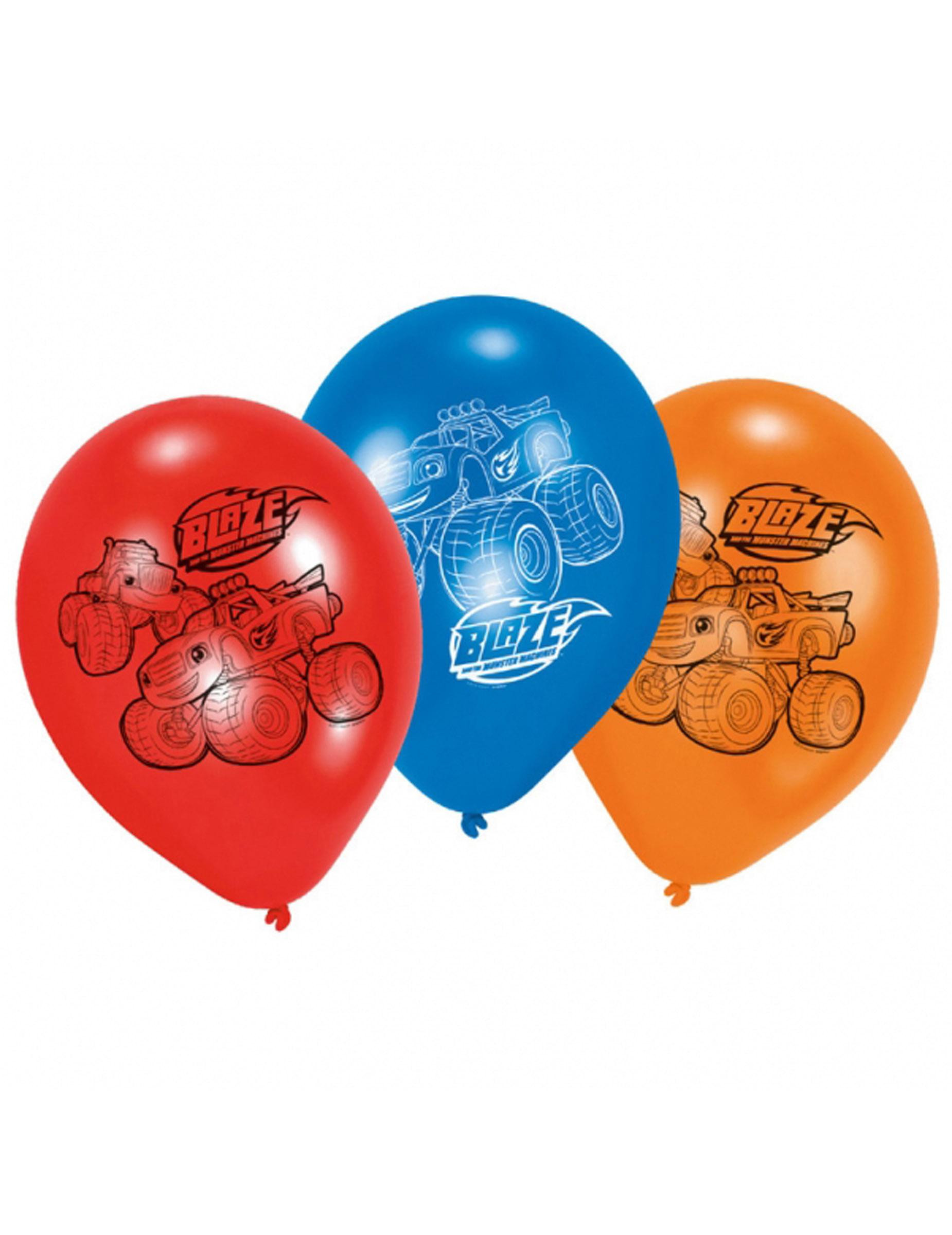Luftballons blaze und die monster maschinen bunt 22cm for Blaze und die monster maschinen
