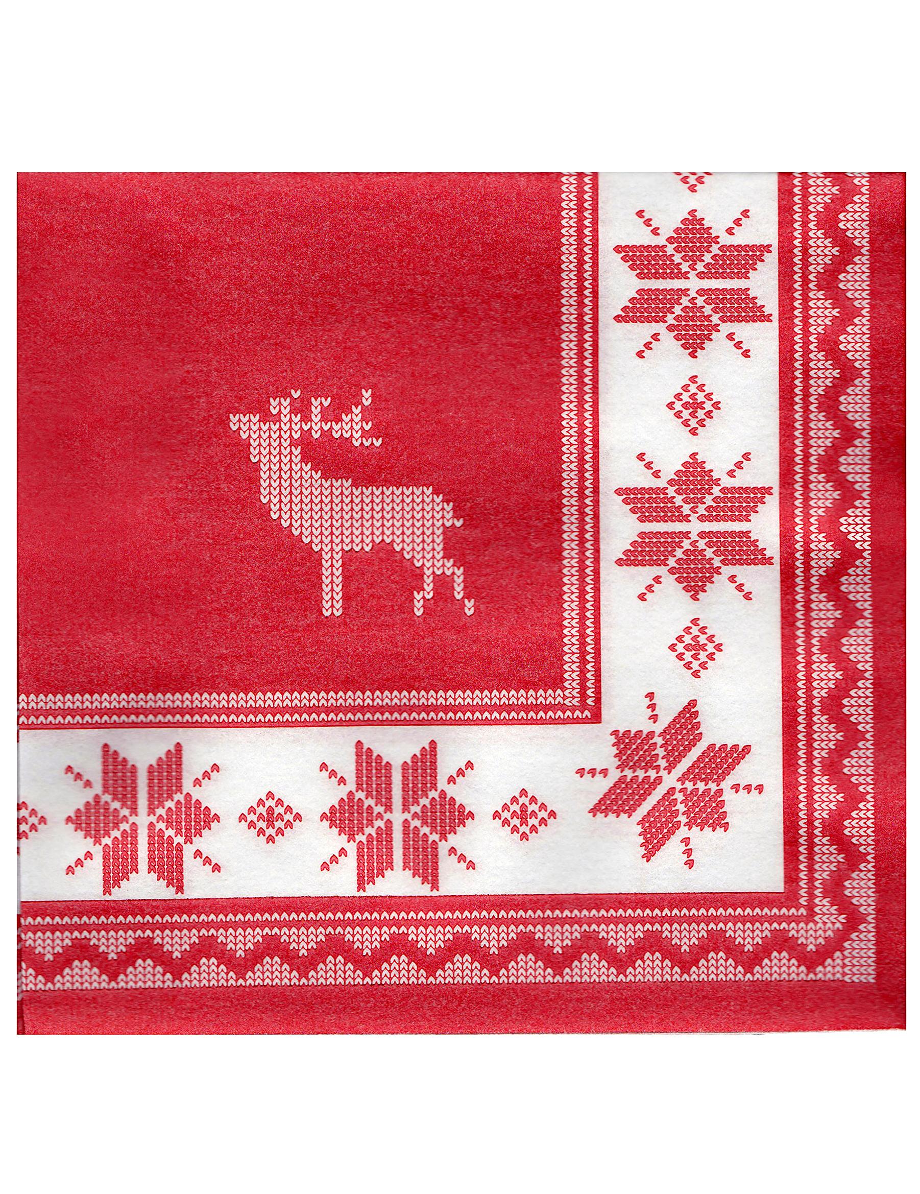 winter servietten weihnachtsdeko 20 st ck weiss rot. Black Bedroom Furniture Sets. Home Design Ideas