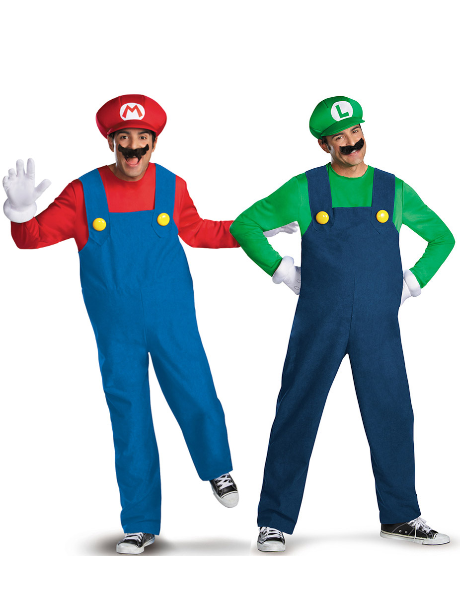 videospiel paarkost m mario und luigi blau rot gr n g nstige faschings kost me bei karneval. Black Bedroom Furniture Sets. Home Design Ideas