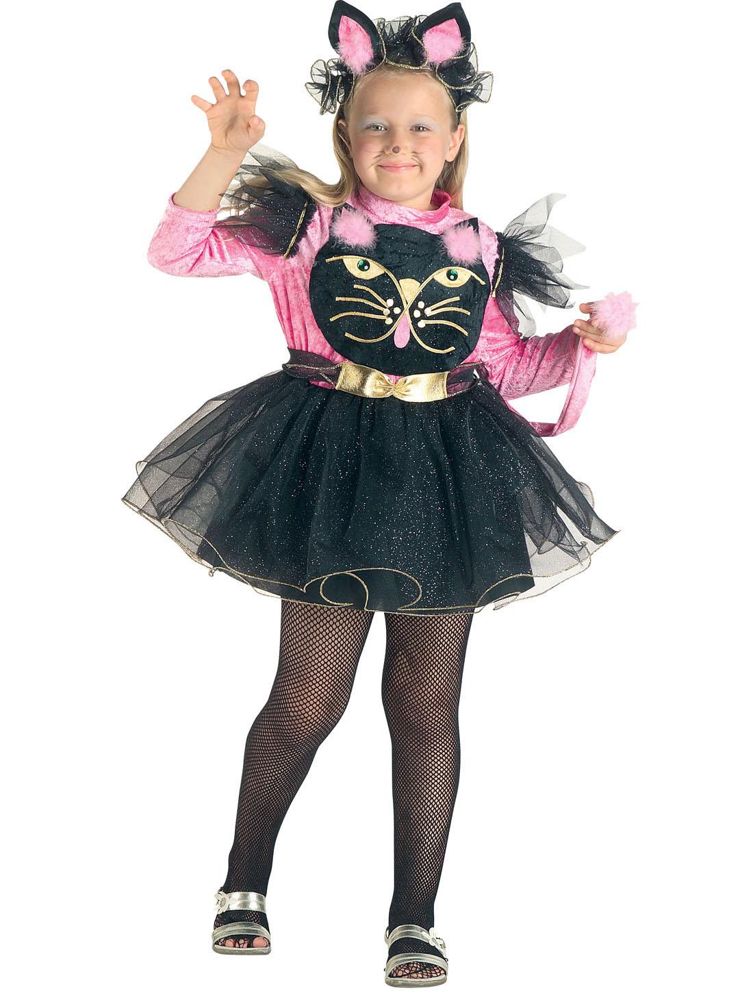 Freche Katze Kinderkostum Pink Schwarz Gunstige Faschings Kostume