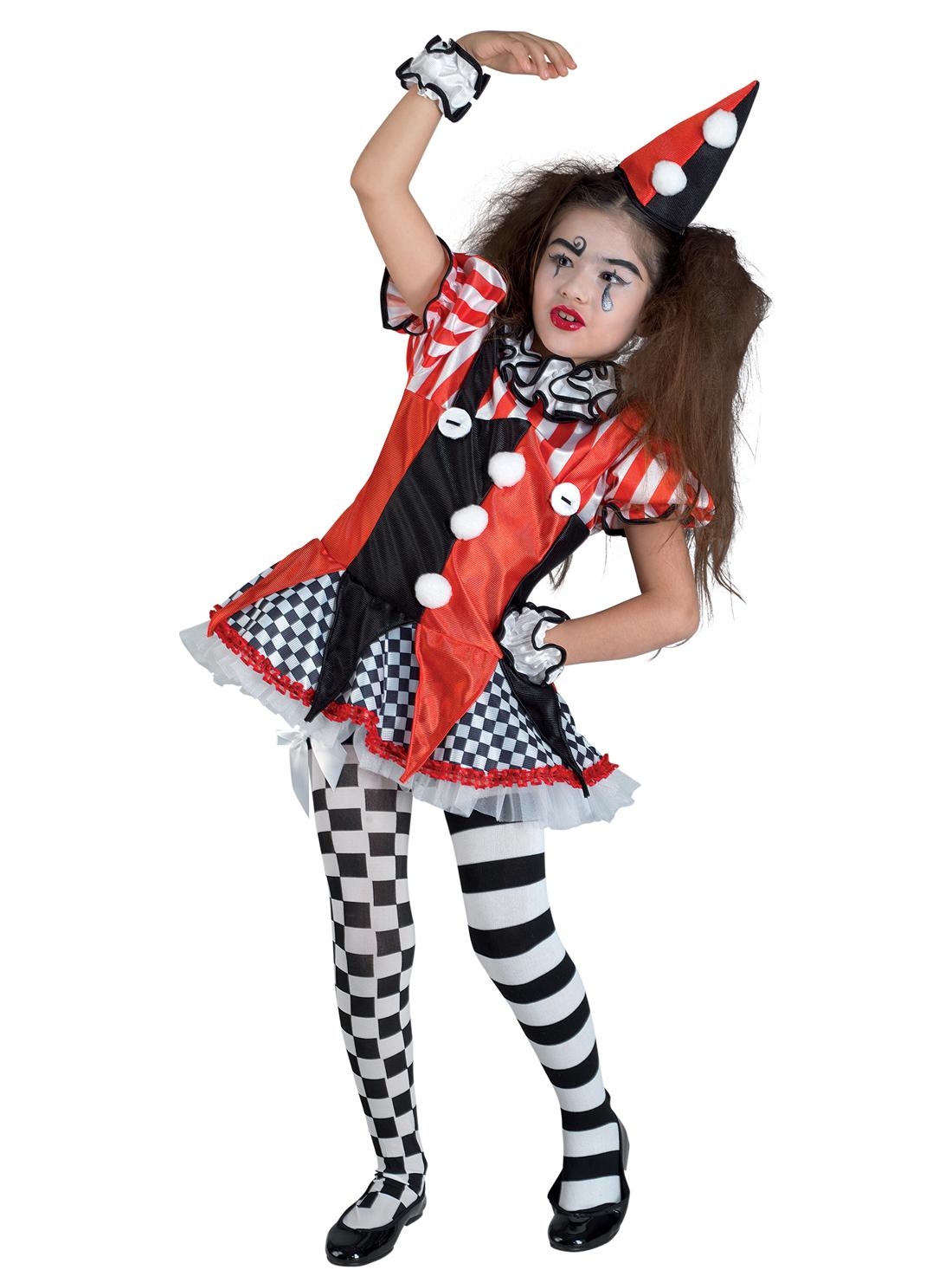 harlekin kinderkost m clown schwarz weiss rot g nstige faschings kost me bei karneval megastore. Black Bedroom Furniture Sets. Home Design Ideas