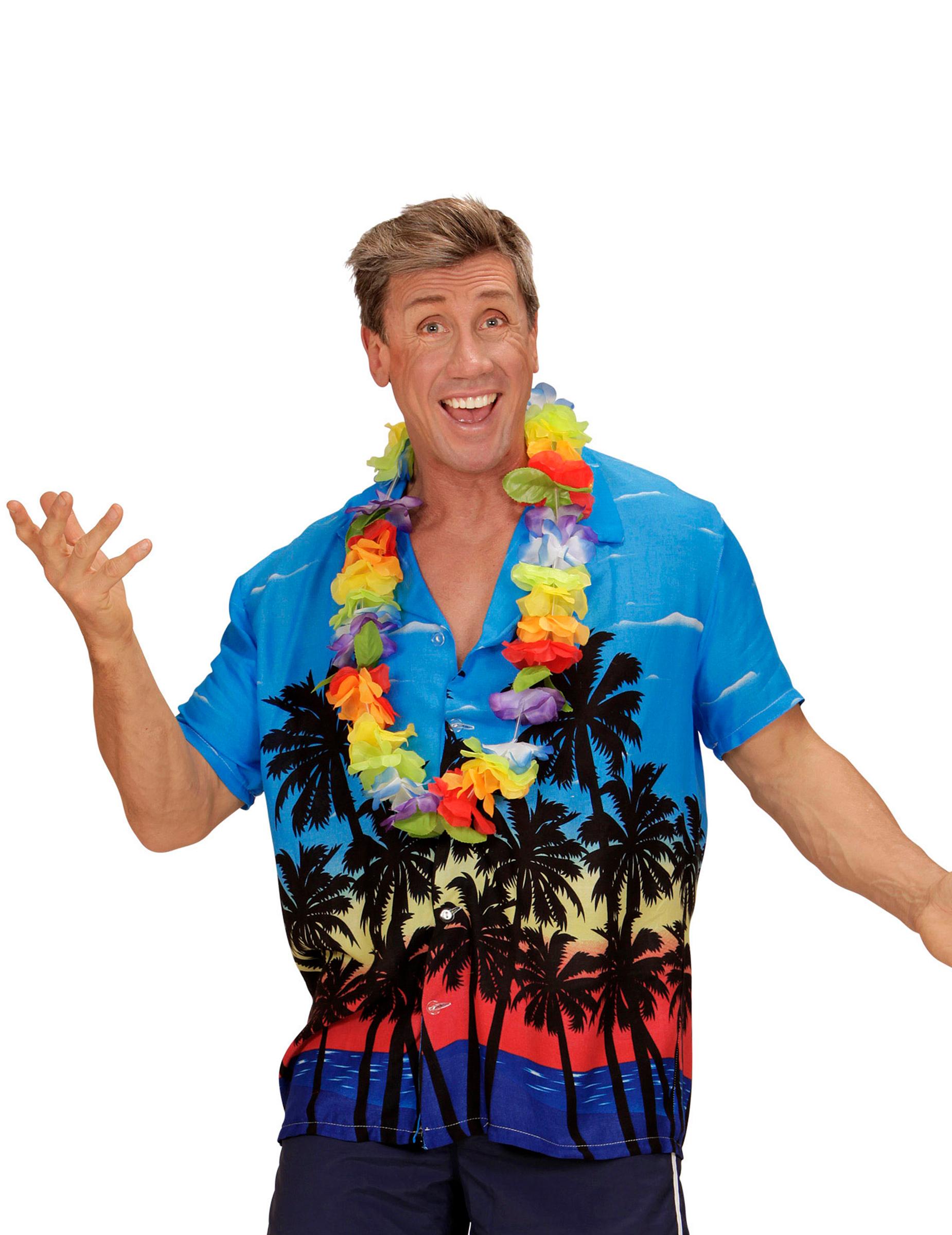 erwachsenen hawaii hemd blau bunt g nstige faschings kost me bei karneval megastore. Black Bedroom Furniture Sets. Home Design Ideas