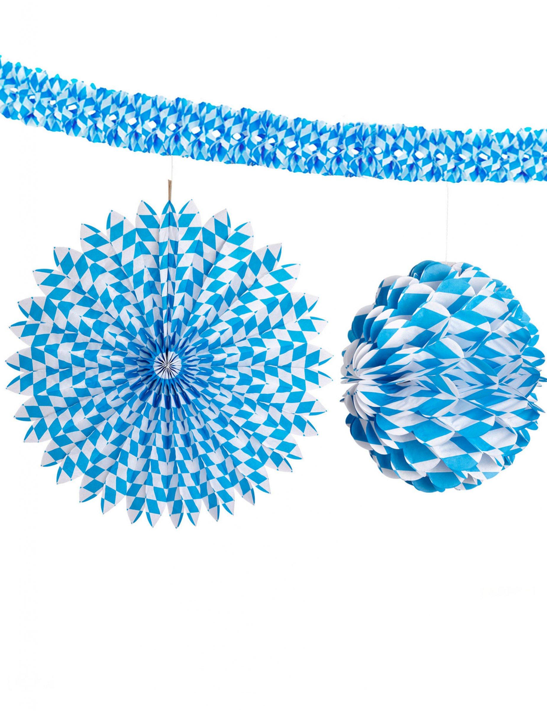 oktoberfest girlanden deko set 3 teilig weiss blau g nstige faschings partydeko zubeh r bei. Black Bedroom Furniture Sets. Home Design Ideas