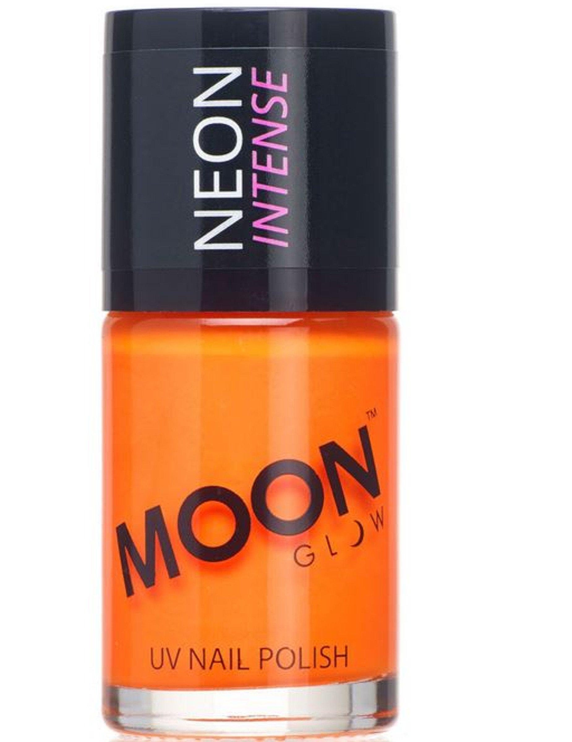 UV-Nagellack Neon Moonglowu00a9 Orange 15ml  Gu00fcnstige Faschings Make-up Bei Karneval Megastore