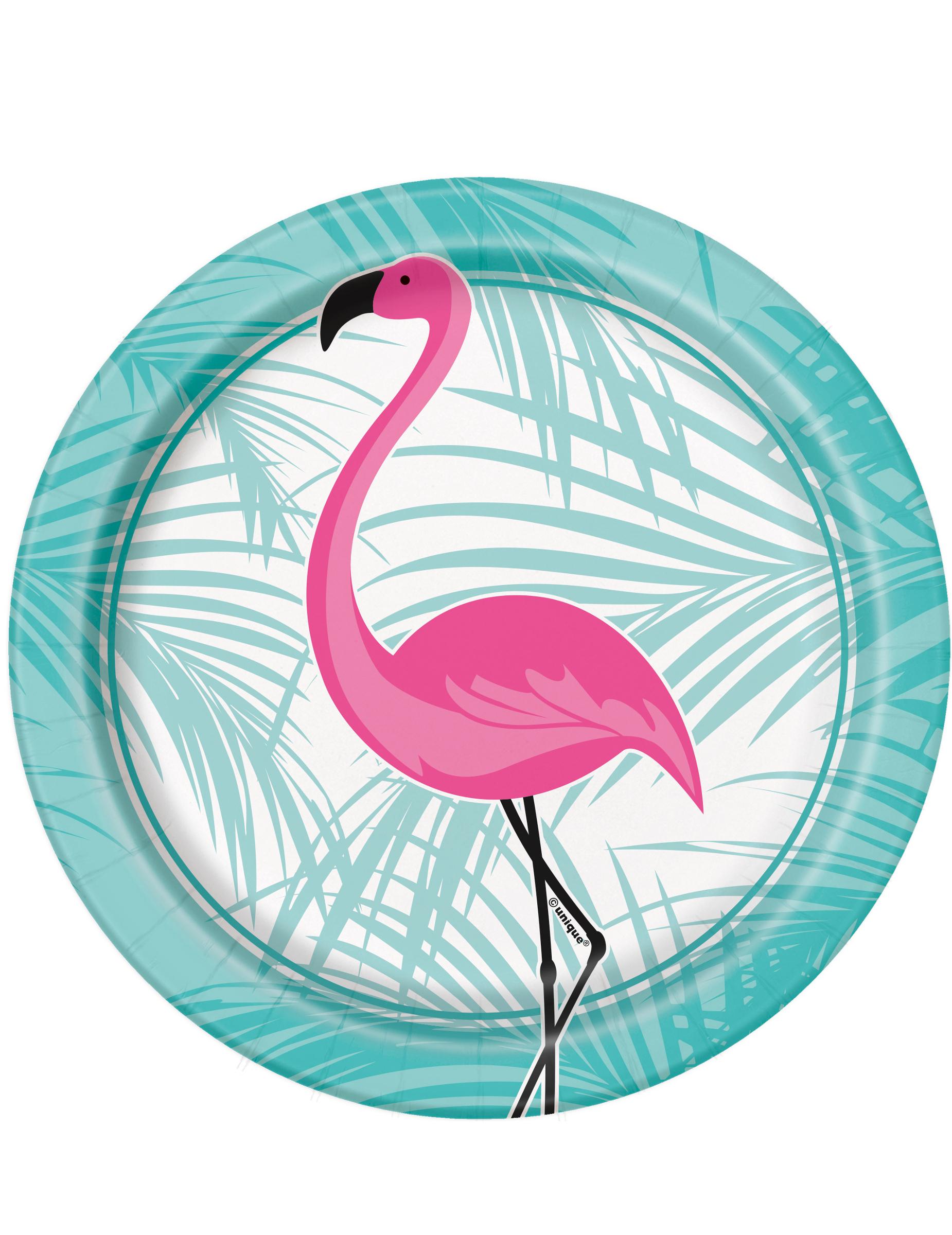 Flamingo Pappteller Party Deko 8 St Ck Rosa T Rkis 18cm