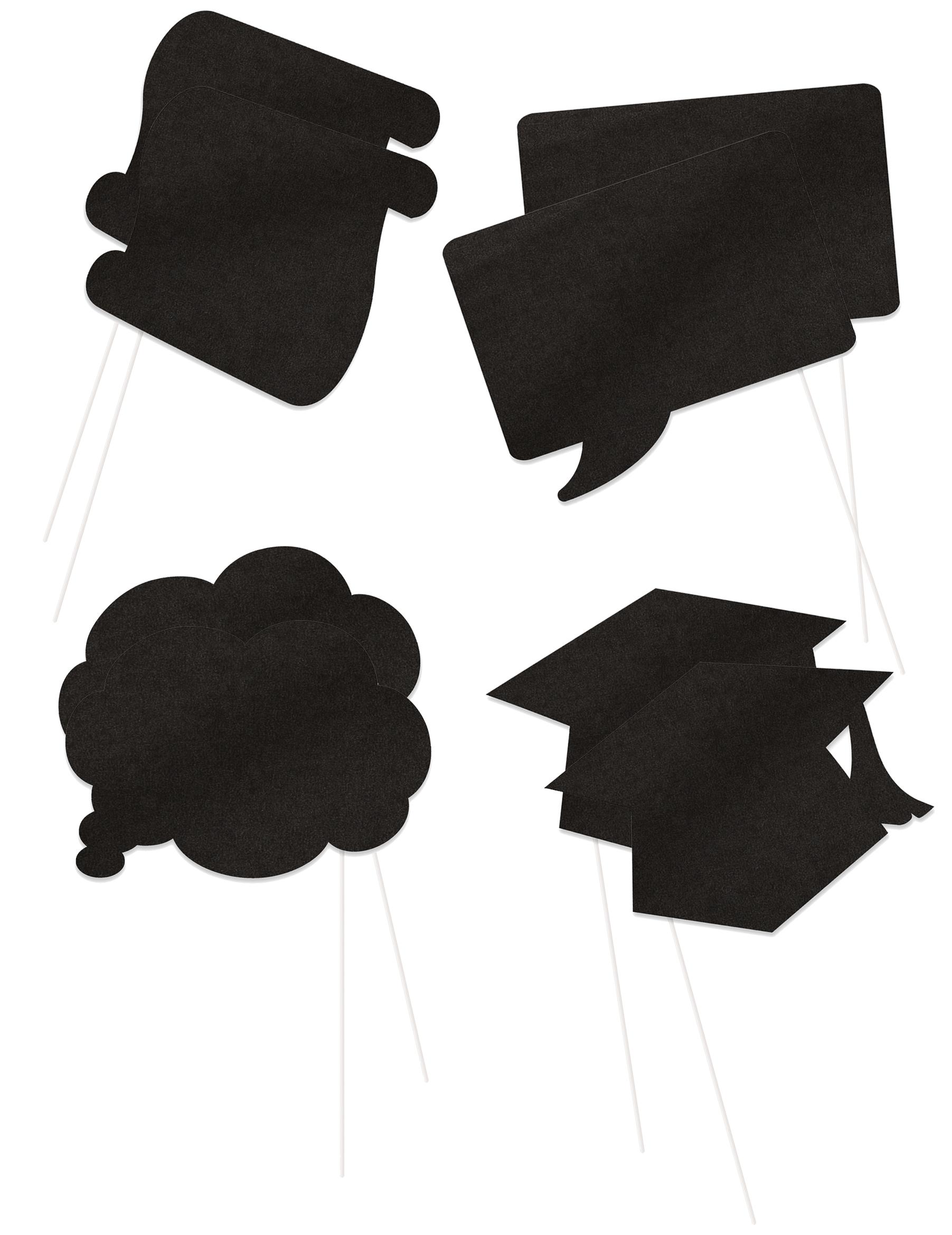 lustiges diplomand set f r fotos 8 teilig schwarz 16x13cm g nstige faschings partydeko. Black Bedroom Furniture Sets. Home Design Ideas