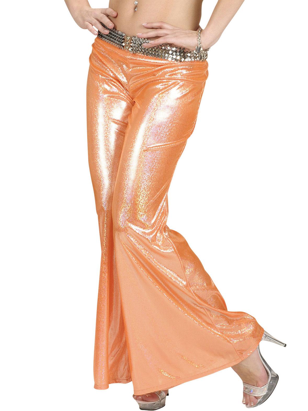 70er disco glitzer schlaghose damen orange g nstige faschings kost me bei karneval megastore. Black Bedroom Furniture Sets. Home Design Ideas
