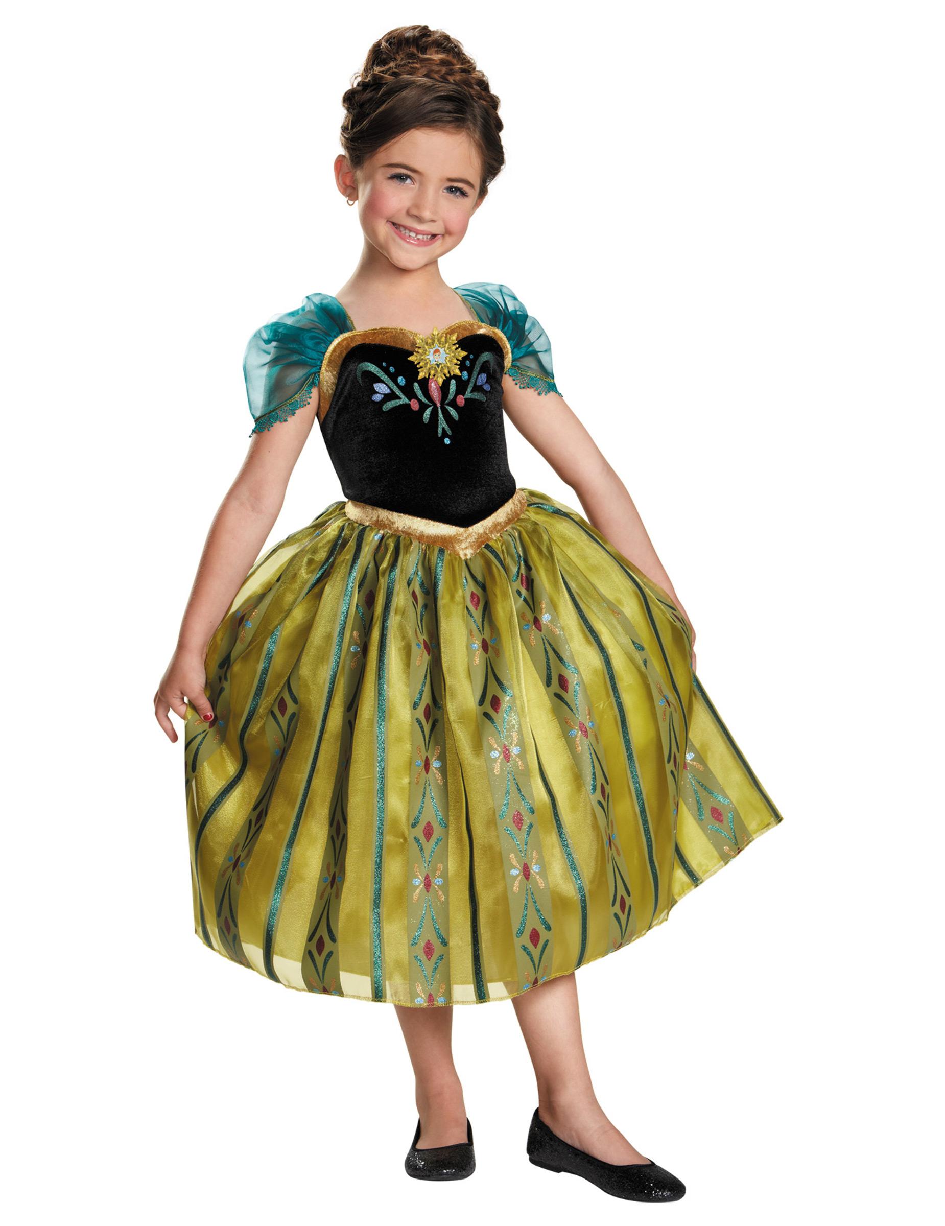 Frozen Anna Kinderkostum Lizenzware Schwarz Grun Gunstige