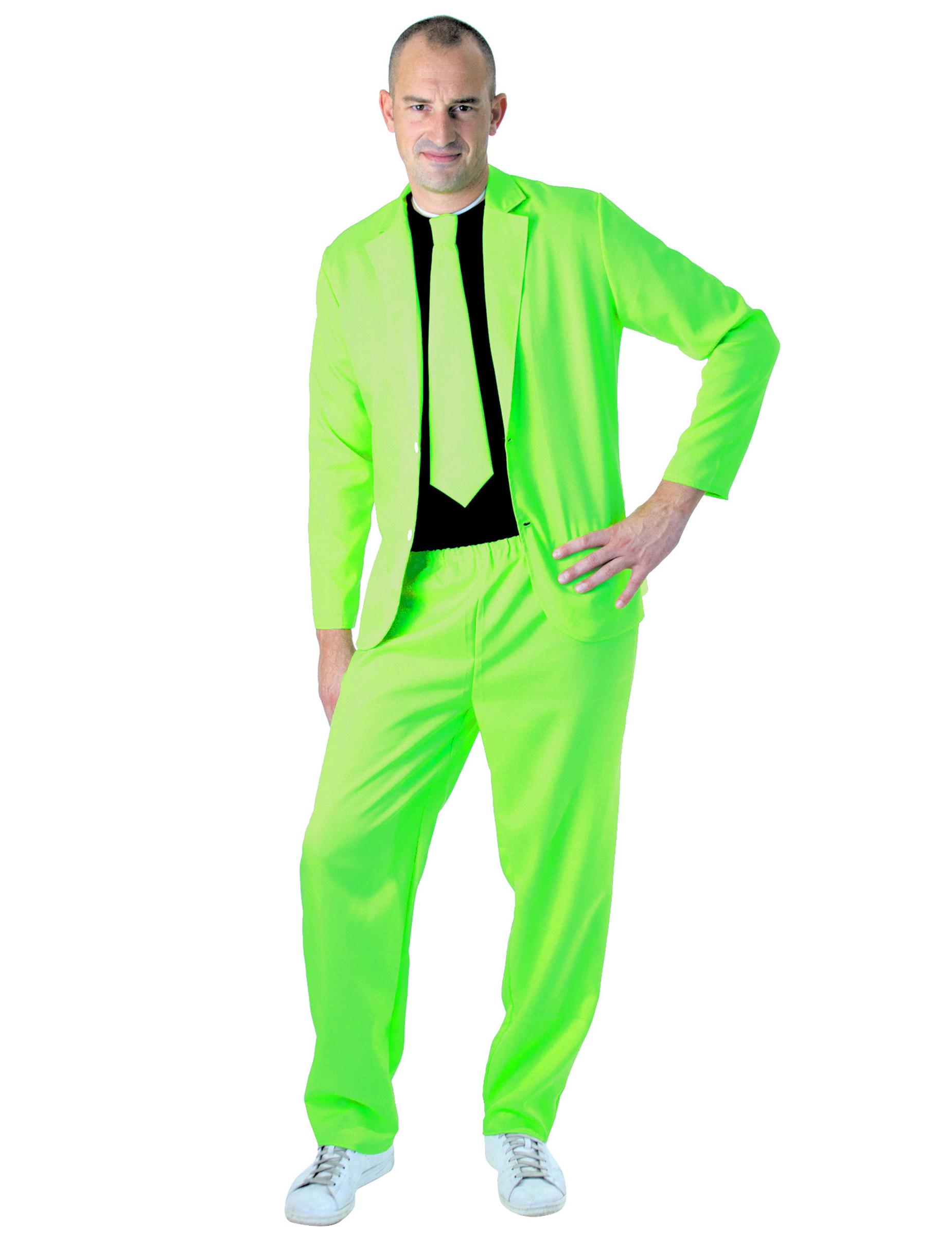 Anzug Fur Herren Neongrun Gunstige Faschings Kostume Bei Karneval