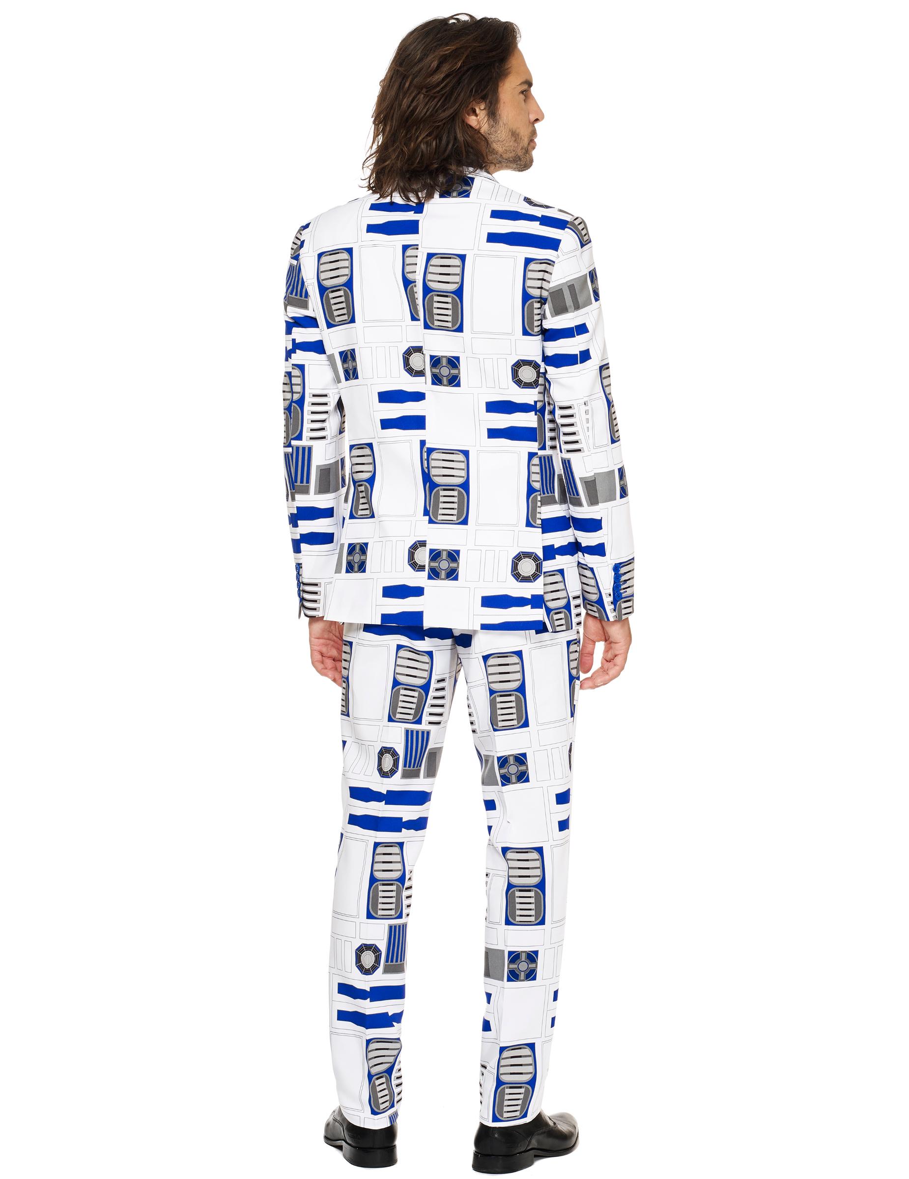 r2d2 anzug opposuits herrenanzug weiss blau grau g nstige faschings kost me bei karneval. Black Bedroom Furniture Sets. Home Design Ideas