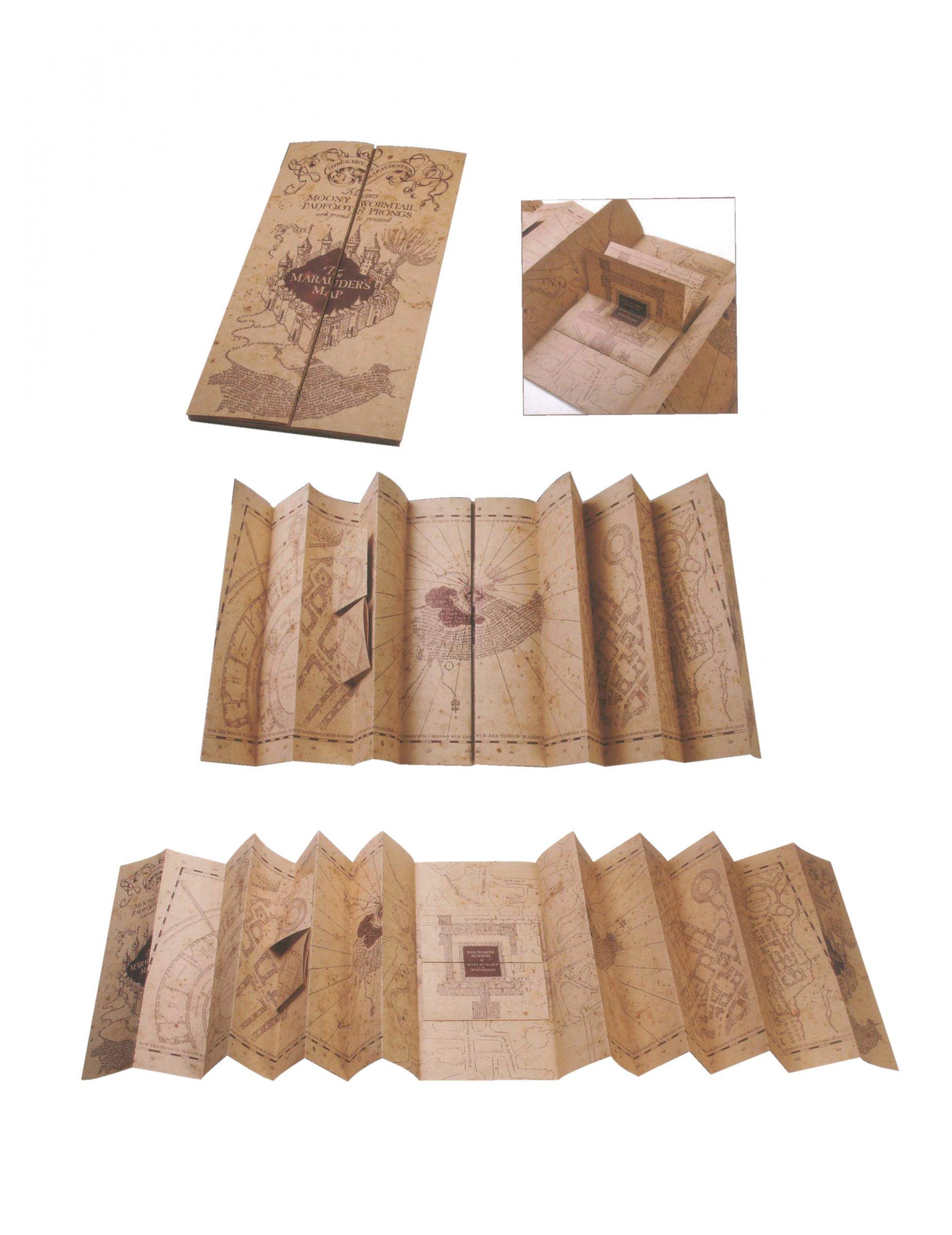 Karte Des Rumtreibers.Karte Des Rumtreibers Aus Harry Potter Nachbildung