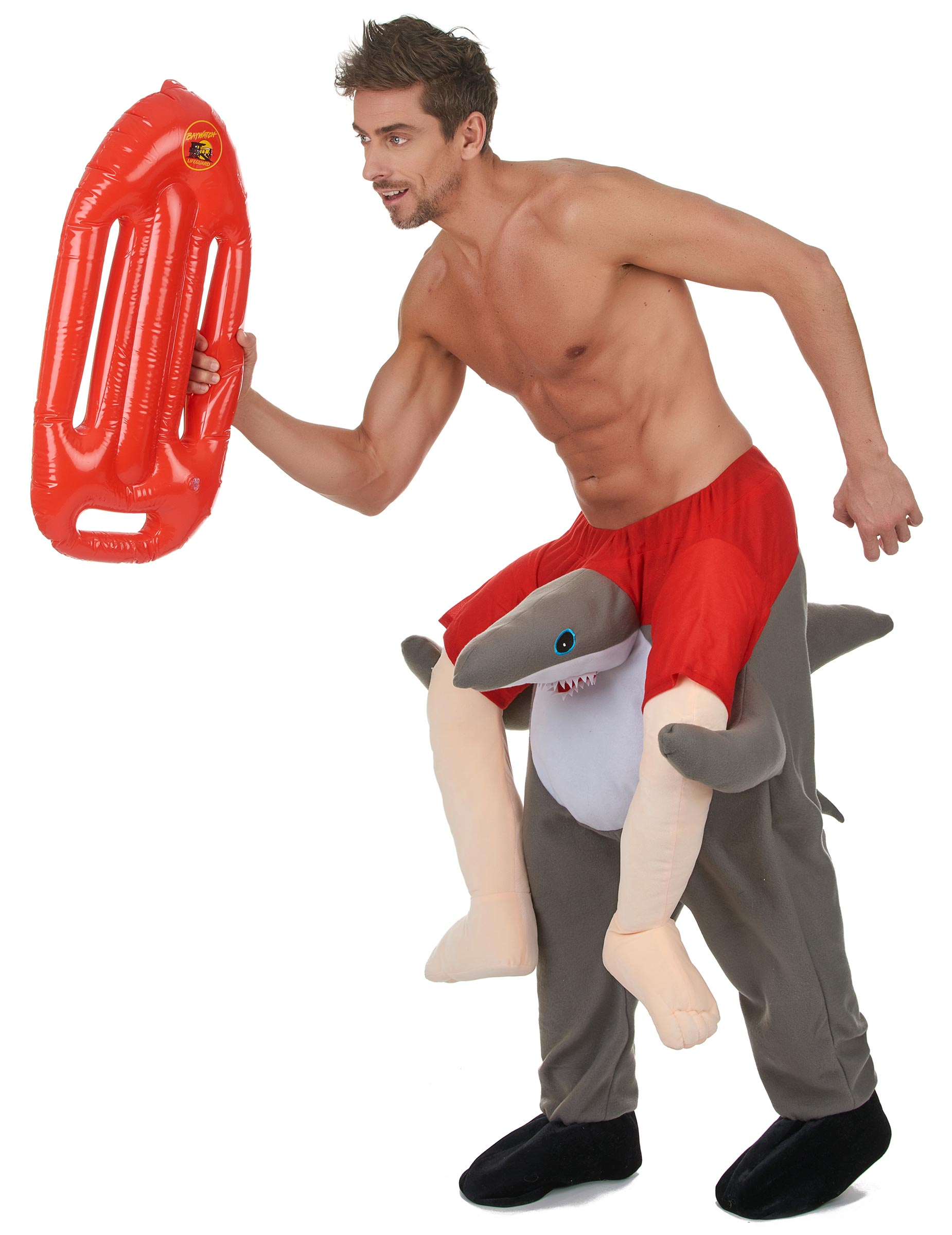 Haifisch Surfer Kostum Grau Rot Weiss Gunstige Faschings Kostume