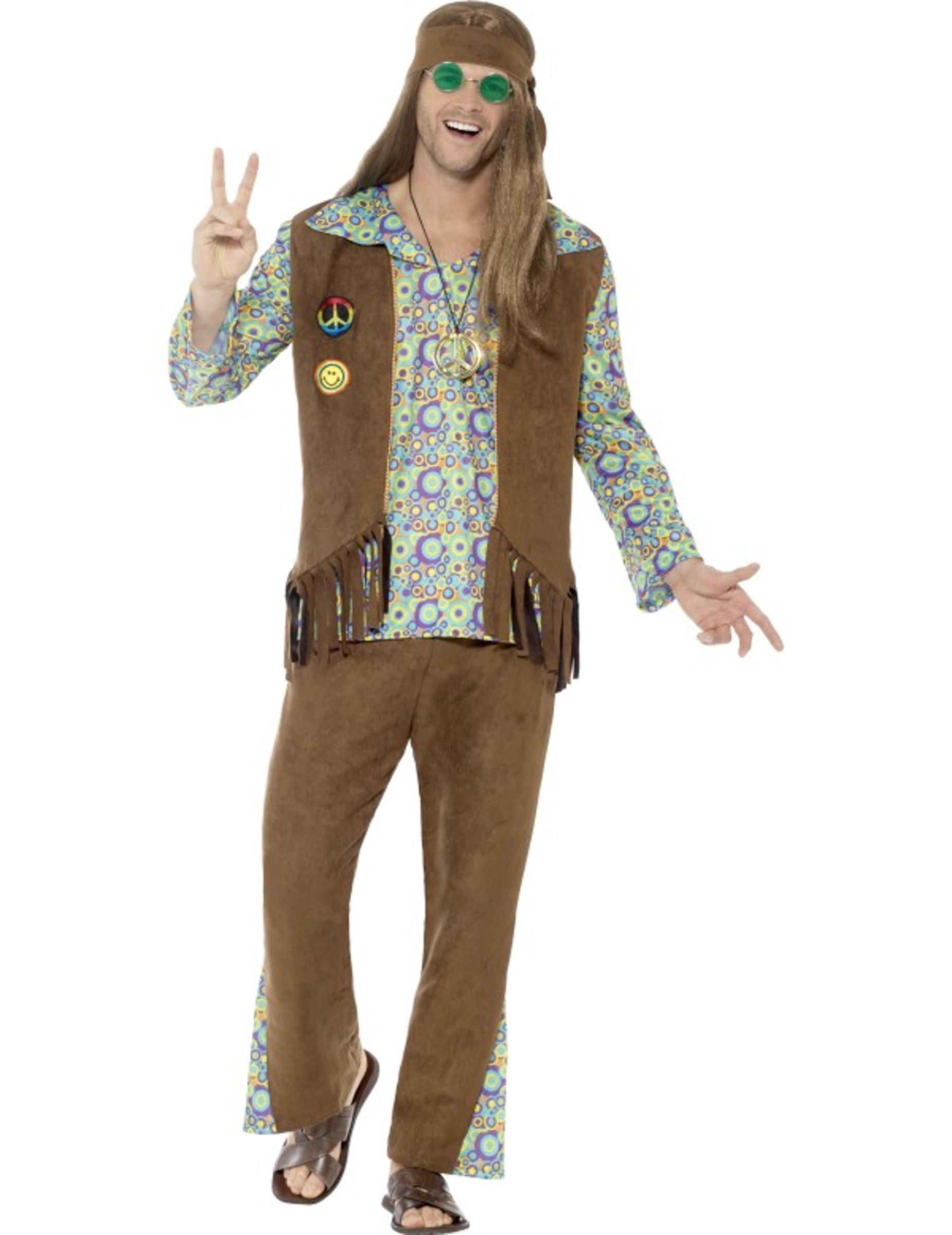 60er jahre hippie kost m herren g nstige faschings. Black Bedroom Furniture Sets. Home Design Ideas