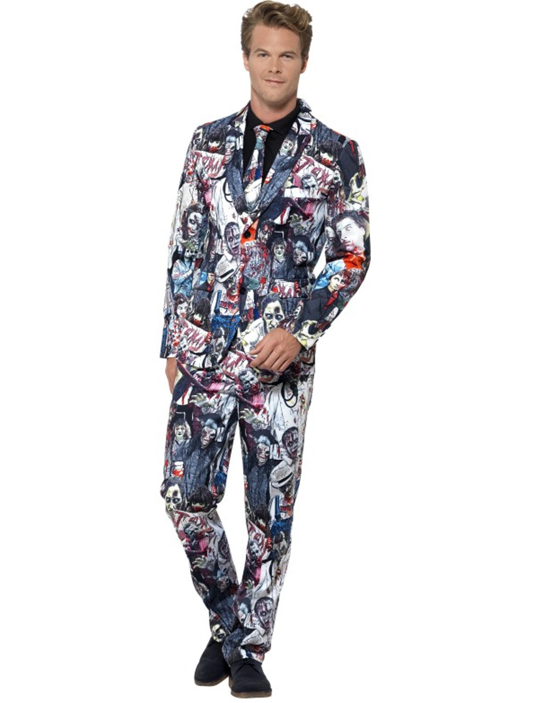 attraktive Mode Online-Einzelhändler lebendig und großartig im Stil Mr. Zombie Herrenanzug Halloween-Anzug bunt