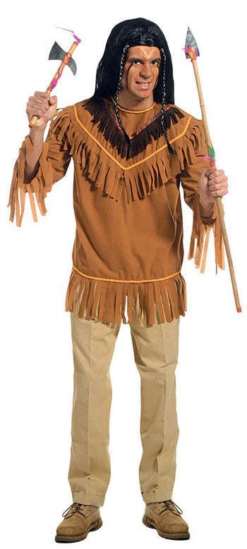 indianer hemd mit fransen braun g nstige faschings kost me bei karneval megastore. Black Bedroom Furniture Sets. Home Design Ideas