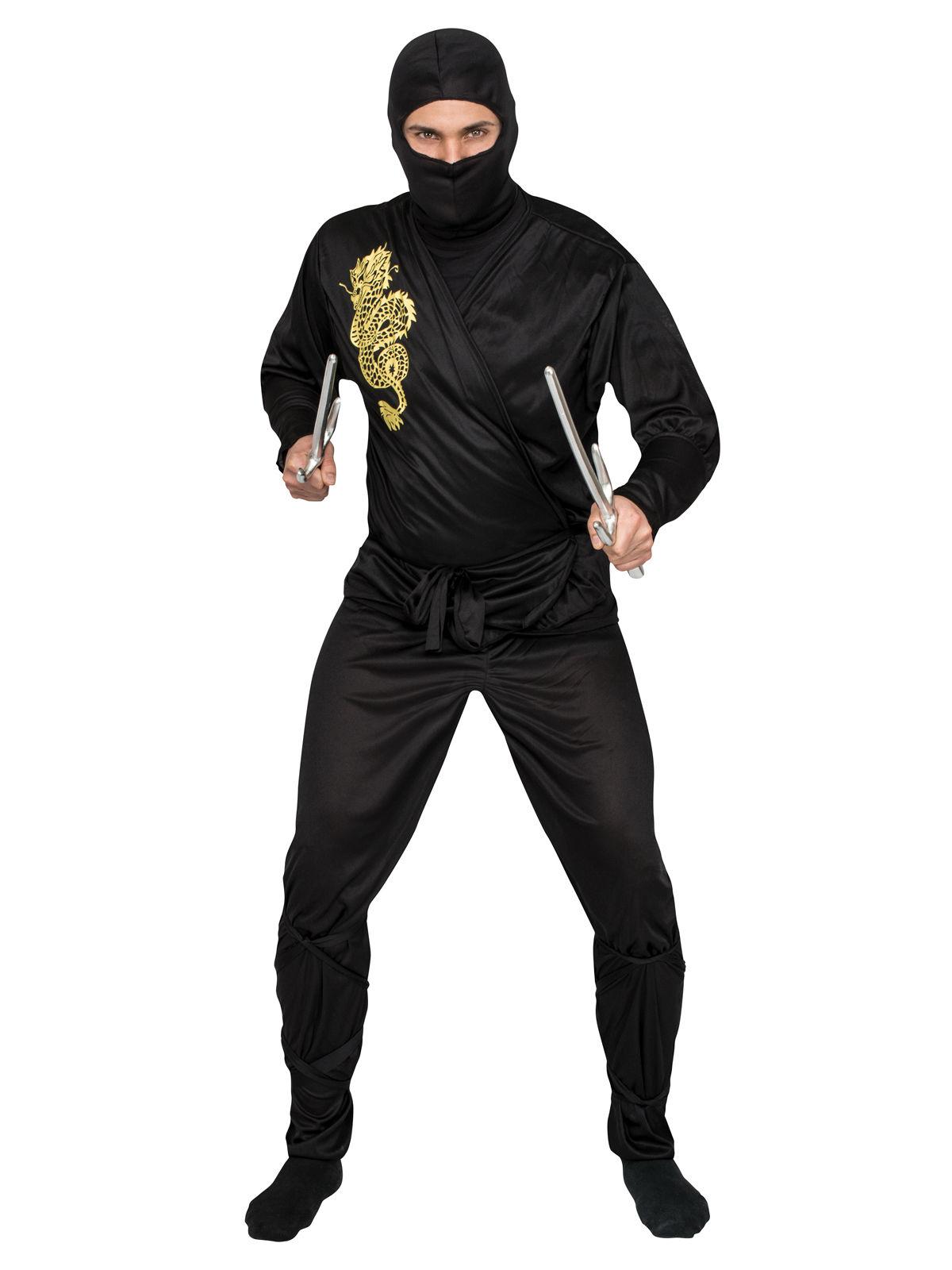ninja kost m schwarz gelb g nstige faschings kost me bei karneval megastore. Black Bedroom Furniture Sets. Home Design Ideas