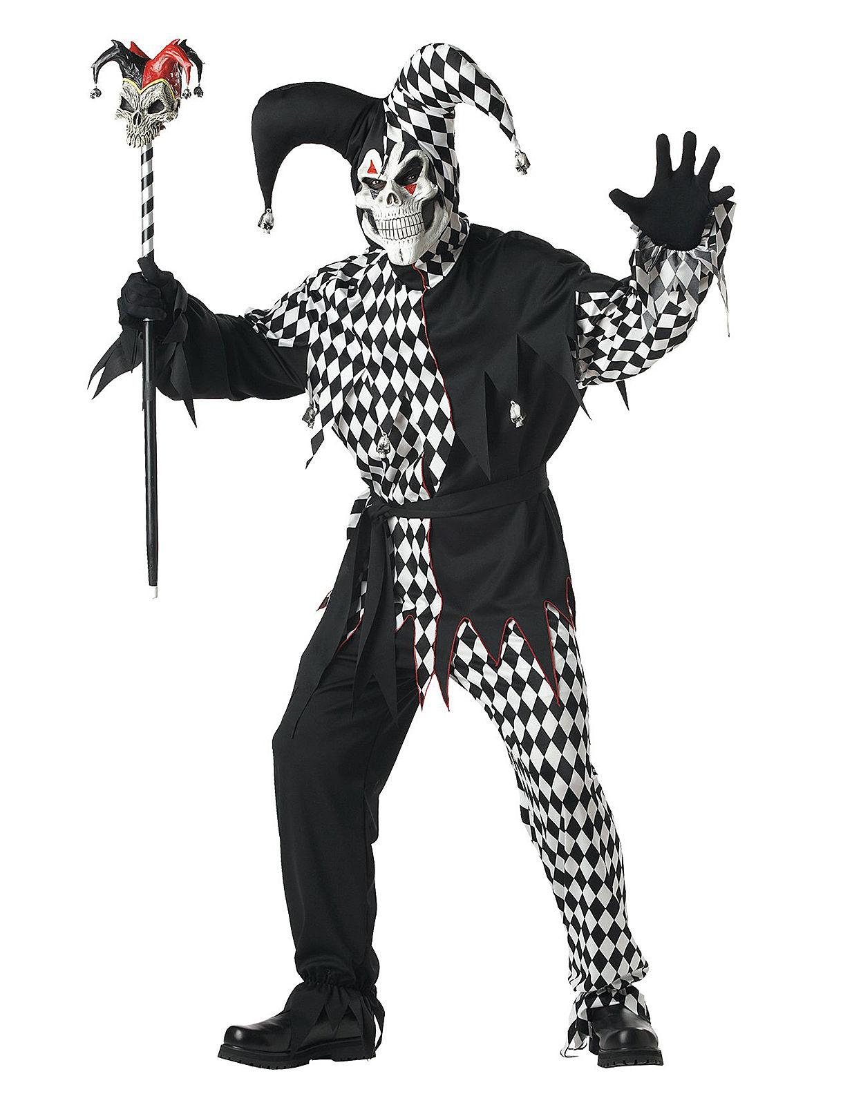 b ser clown harlekin halloween kost m schwarz weiss. Black Bedroom Furniture Sets. Home Design Ideas