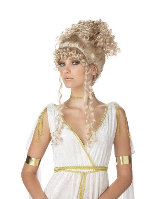 Griechische Gottin Hochsteckfrisur Perucke Blond
