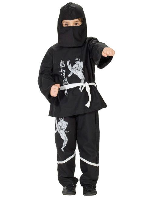 Ninja Kinder Kostüm Schwarz Weiss Günstige Faschings Kostüme Bei