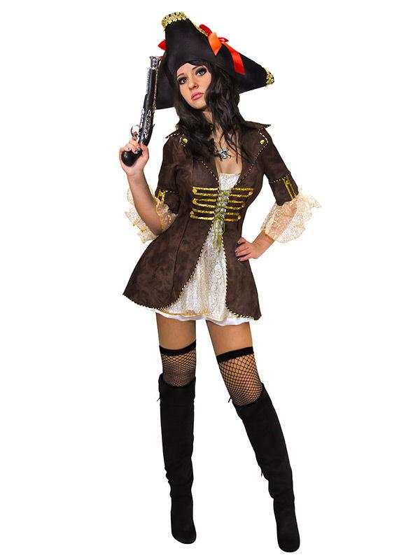 Piratenbraut Kostum Braun Beige Gold Gunstige Faschings Kostume