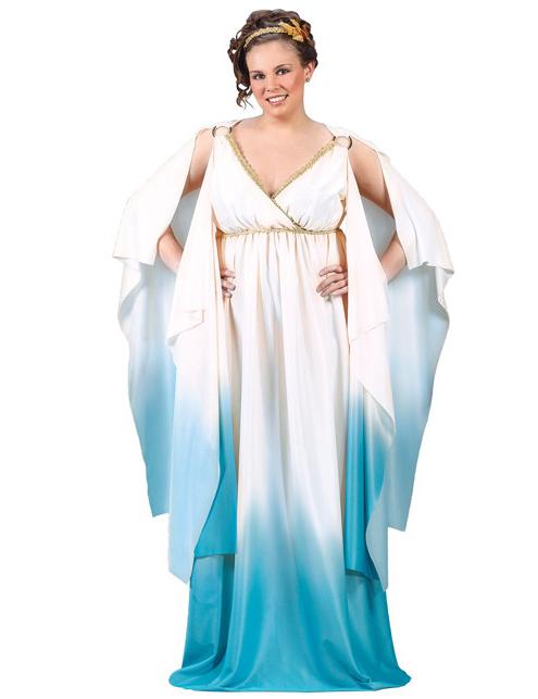 Griechin Römerin Kostüm Antike Göttin Damenkostüm Kleid Gewand Damen XL 46 48