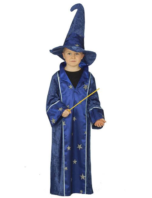 Zauberer Kinderkostum Magier Blau Gold Gunstige Faschings Kostume