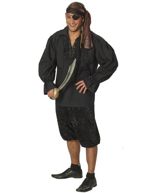 piratenhemd f r herren schwarz g nstige faschings kost me bei karneval megastore. Black Bedroom Furniture Sets. Home Design Ideas
