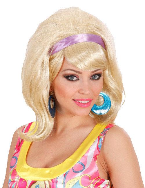 60er jahre per cke f hnfrisur blond g nstige faschings accessoires zubeh r bei karneval. Black Bedroom Furniture Sets. Home Design Ideas