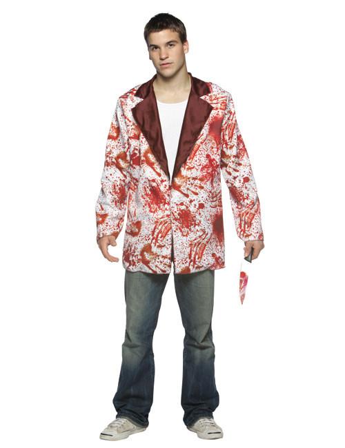 blutiger halloween blazer weiss rot g nstige faschings kost me bei karneval megastore. Black Bedroom Furniture Sets. Home Design Ideas